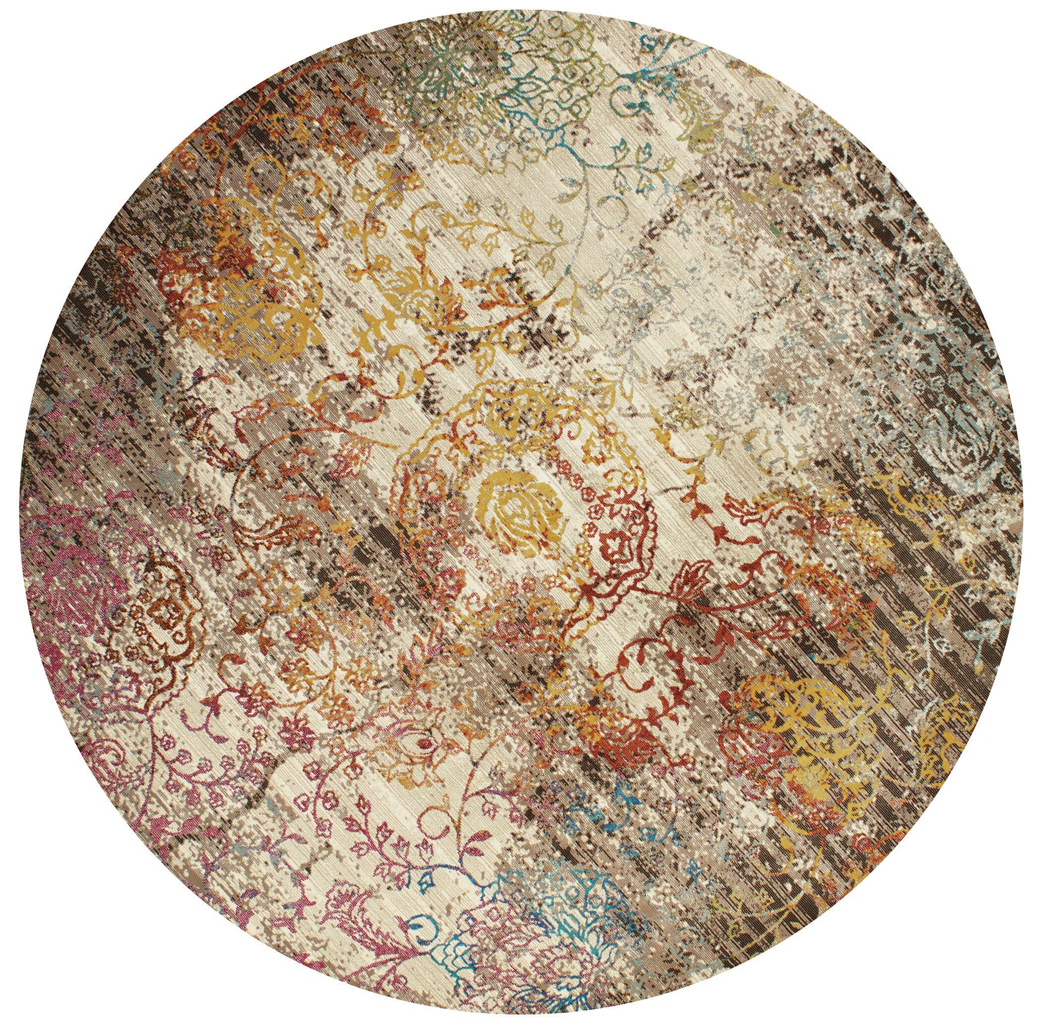 Ravenstein Pink/Brown Area Rug Rug Size: Round 7'10''
