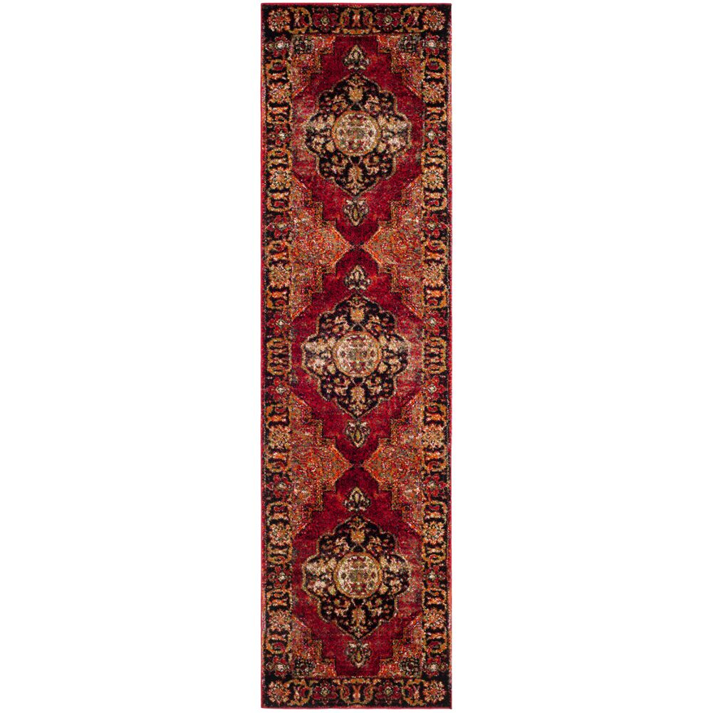 Fitzpatrick Red Area Rug Rug Size: Runner 2'2