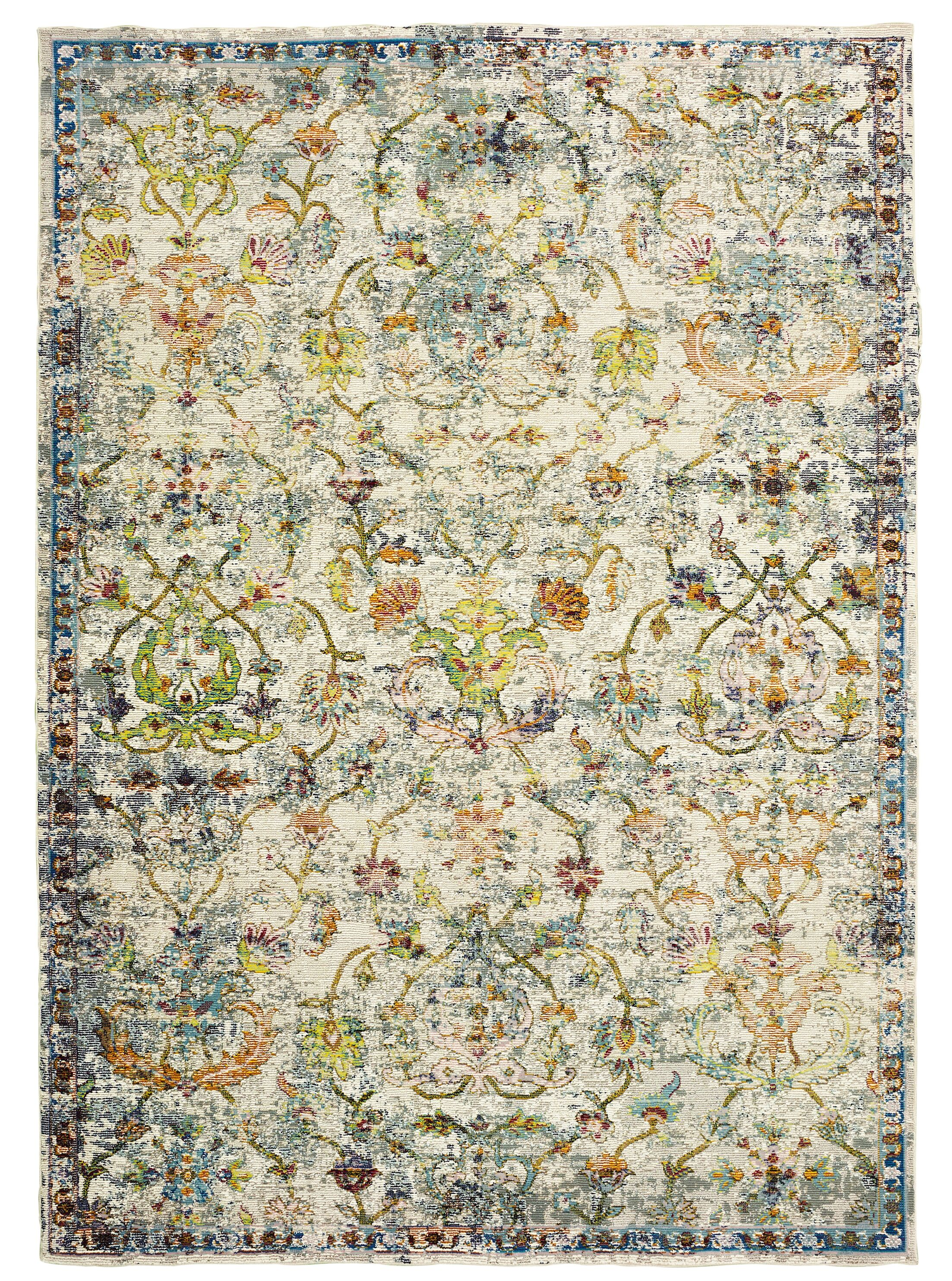 Amory Old World Victorian Gray Area Rug Rug Size: Rectangle 8' x 10'