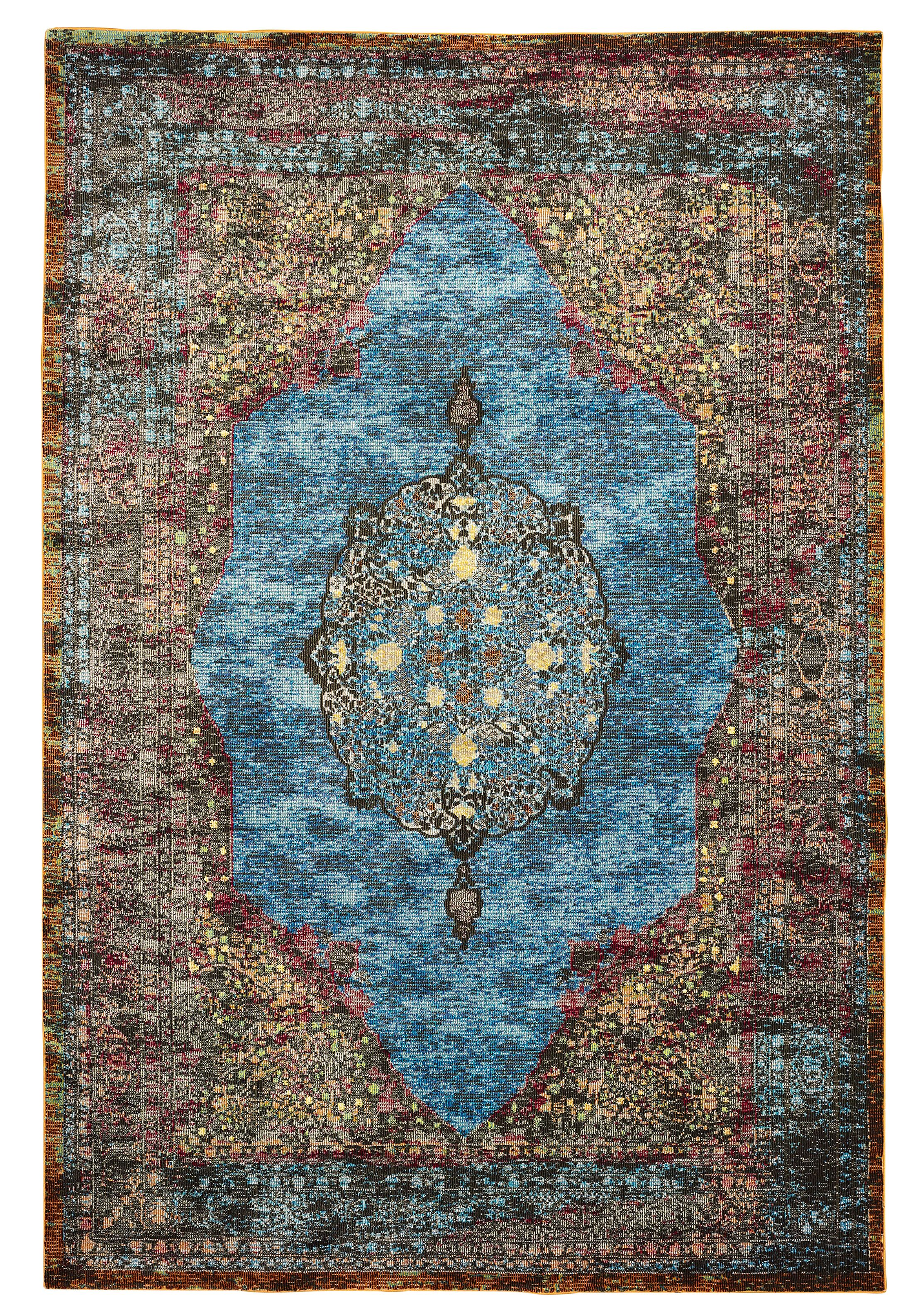 Amory Brown/Blue Area Rug Rug Size: Rectangle 8'9