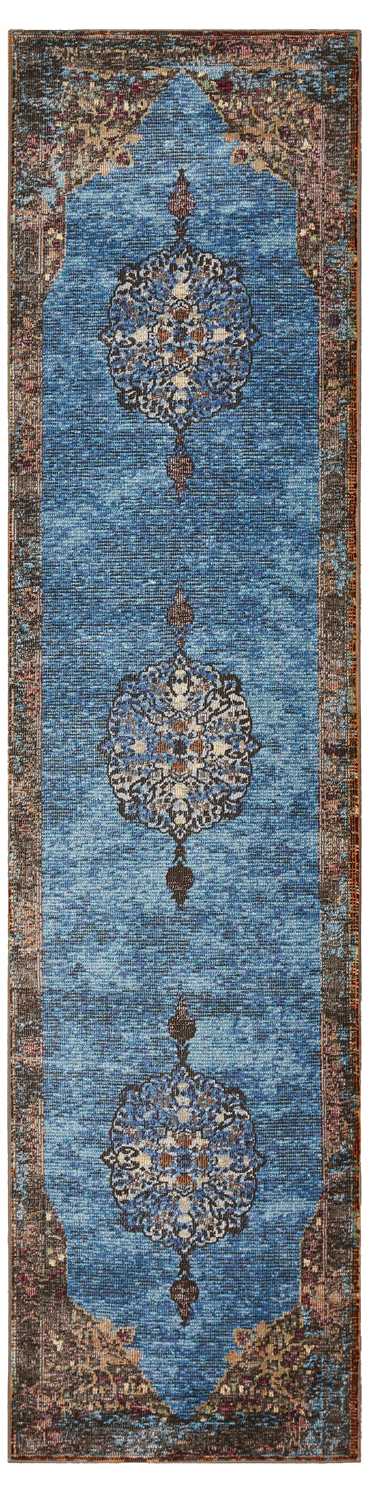 Amory Brown/Blue Area Rug Rug Size: Runner 2'3