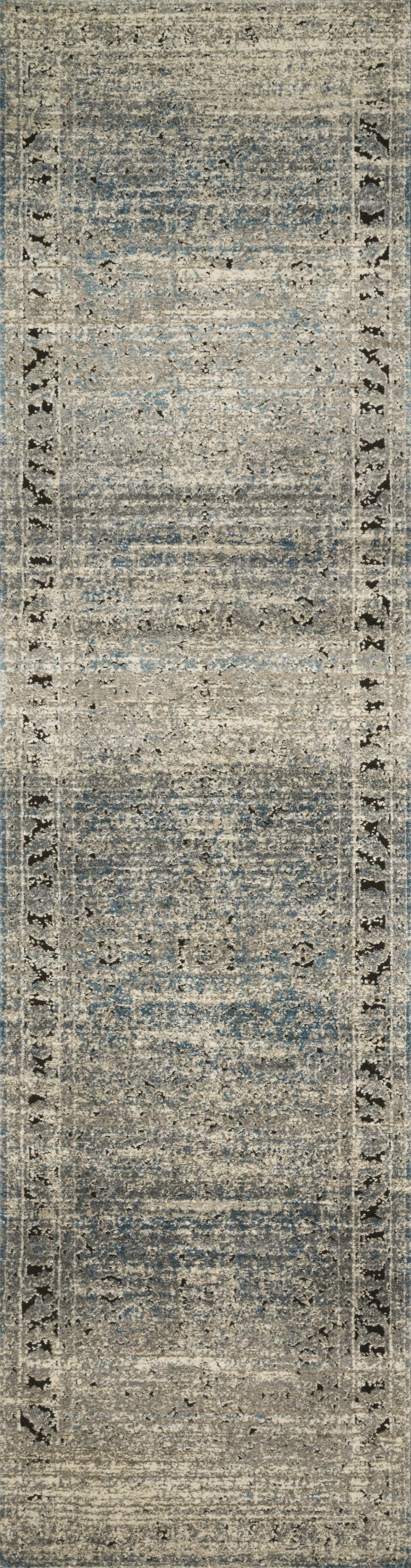 Diez Gray/Blue Area Rug Rug Size: Runner 2'8
