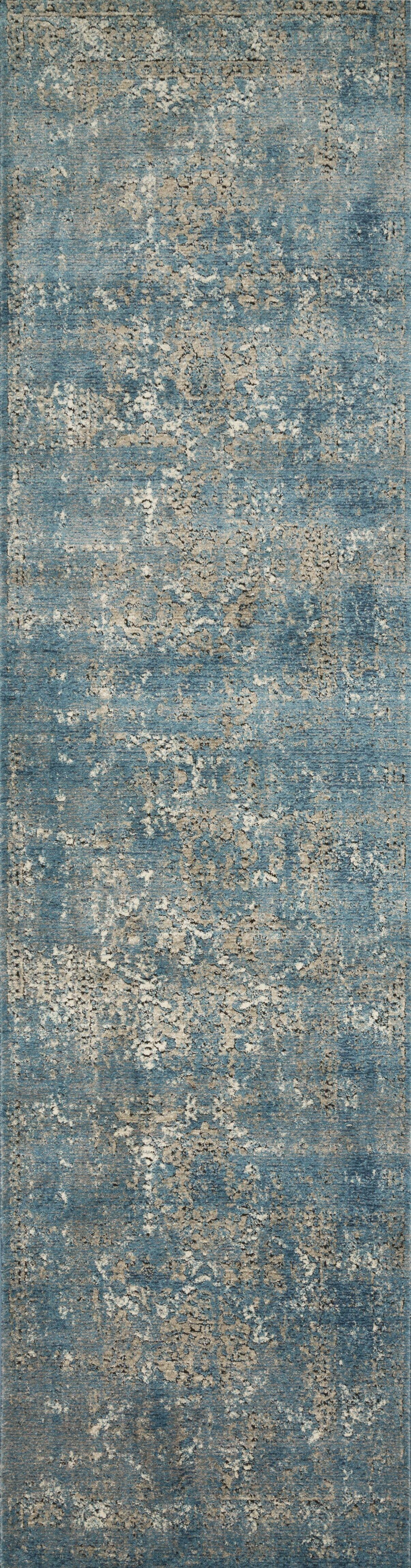 Diez Blue/Taupe Area Rug Rug Size: Runner 2'8