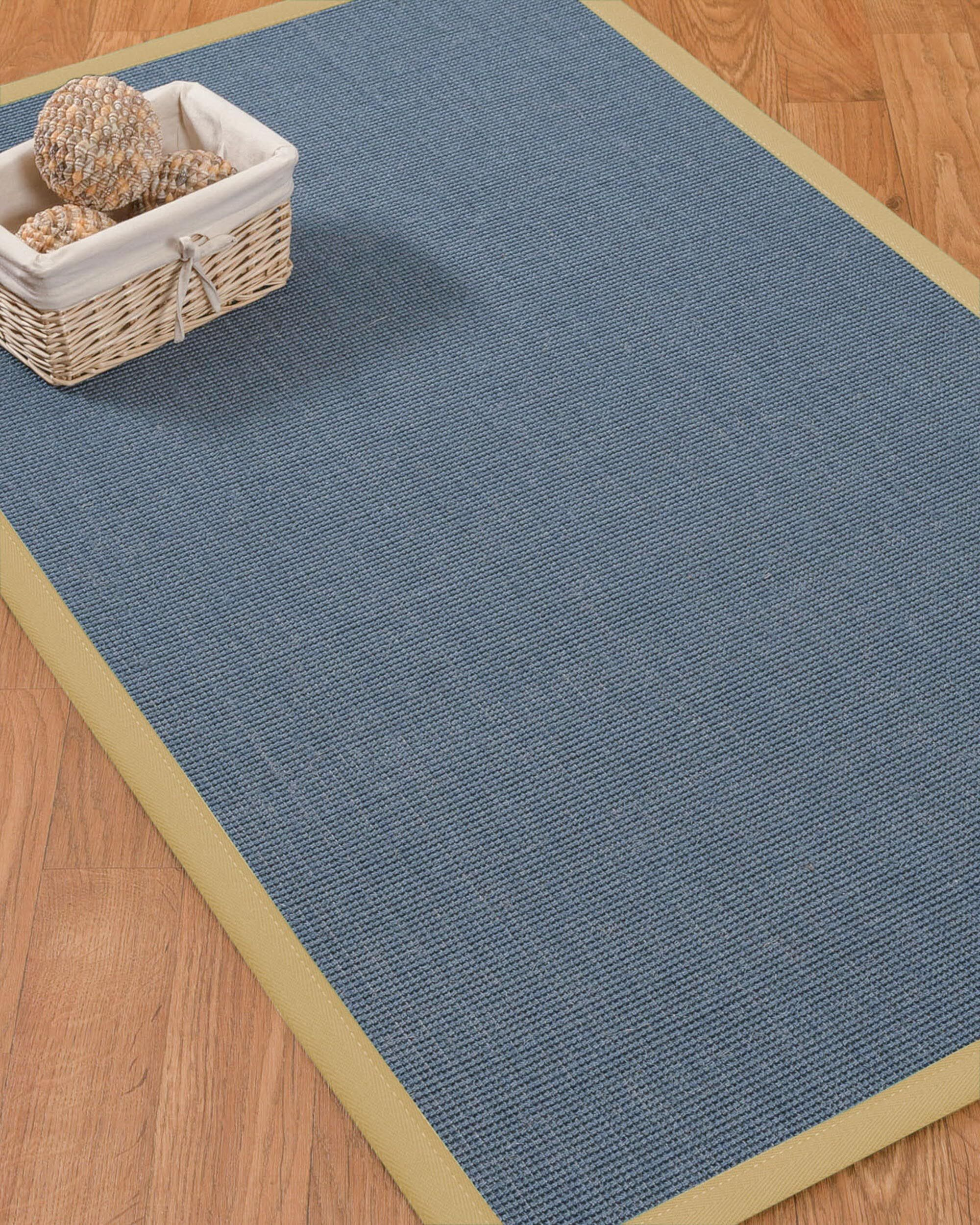 Ivy Border Hand-Woven Gray/Sage Area Rug Rug Pad Included: No, Rug Size: Rectangle 2' x 3'