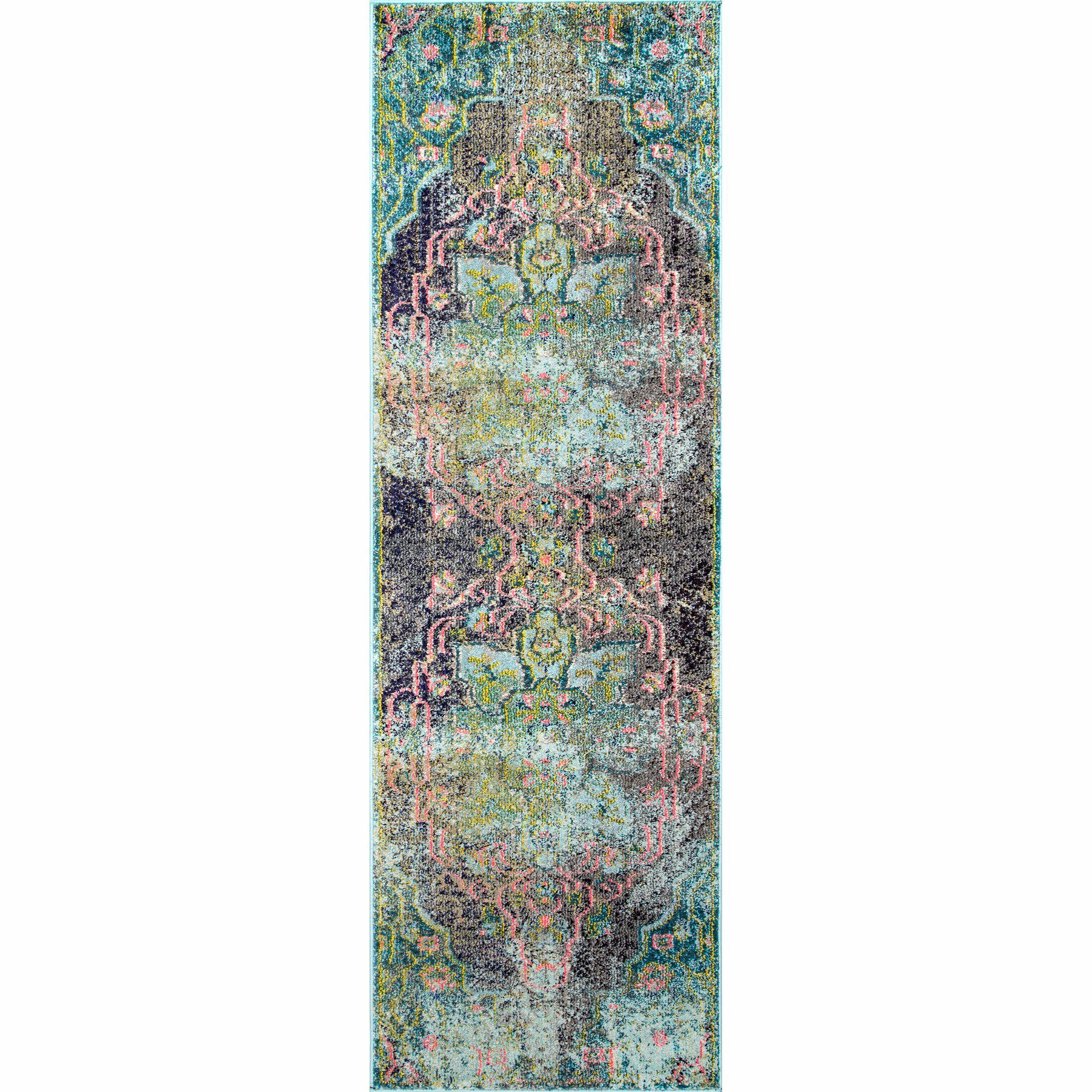 Maricela Aqua Area Rug Rug Size: Rectangle 4' x 6'