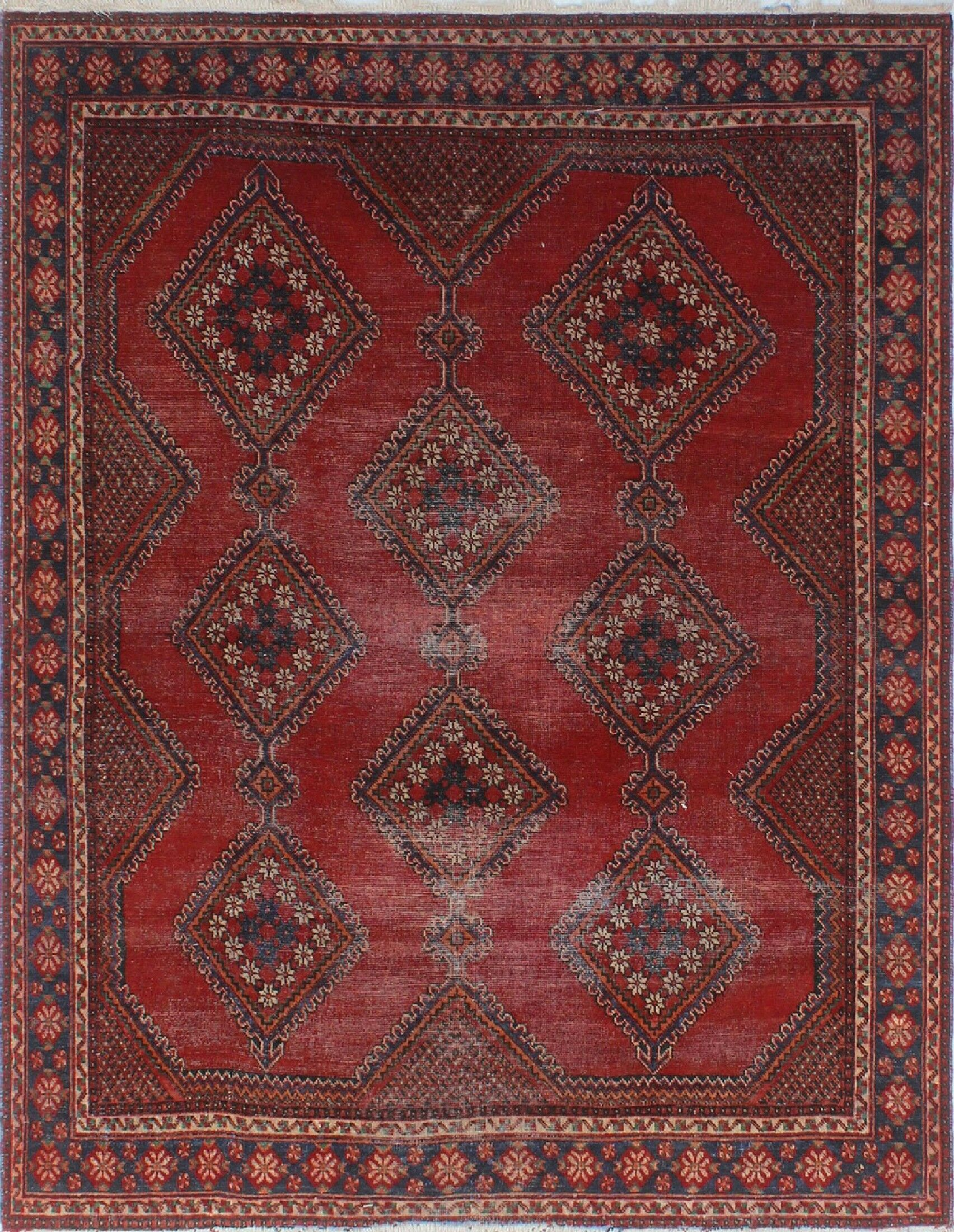One-of-a-Kind Brook Semi Antique Hand-Knotted Red Area Rug