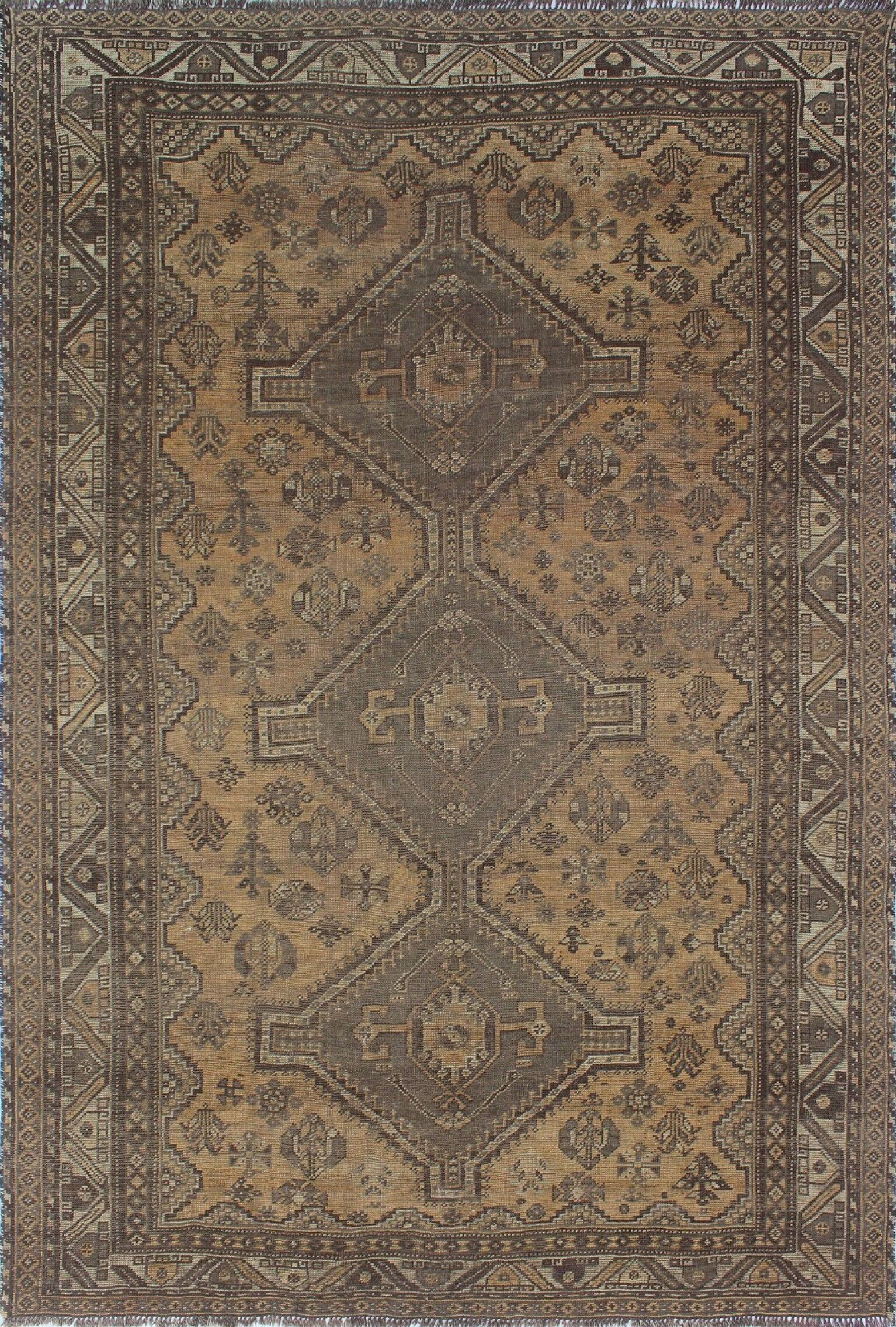 One-of-a-Kind Brook Semi Antique Hand-Knotted Gray Area Rug