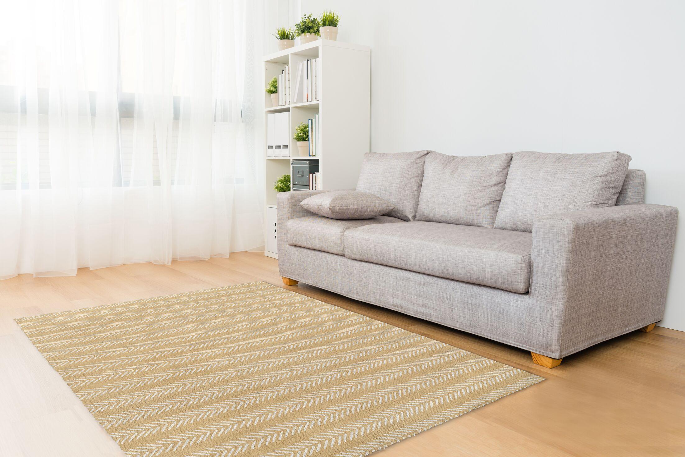 Cream Area Rug Rug Size: Rectangle 3' x 5'