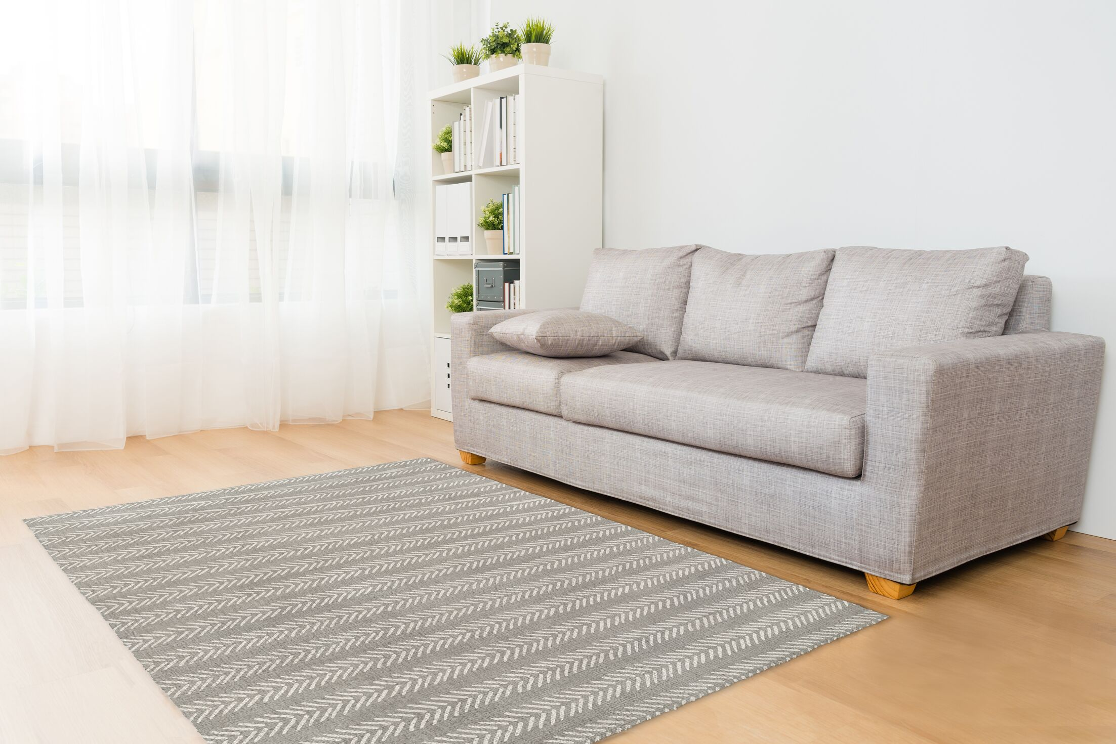 Gray Area Rug Rug Size: Rectangle 8' x 10'