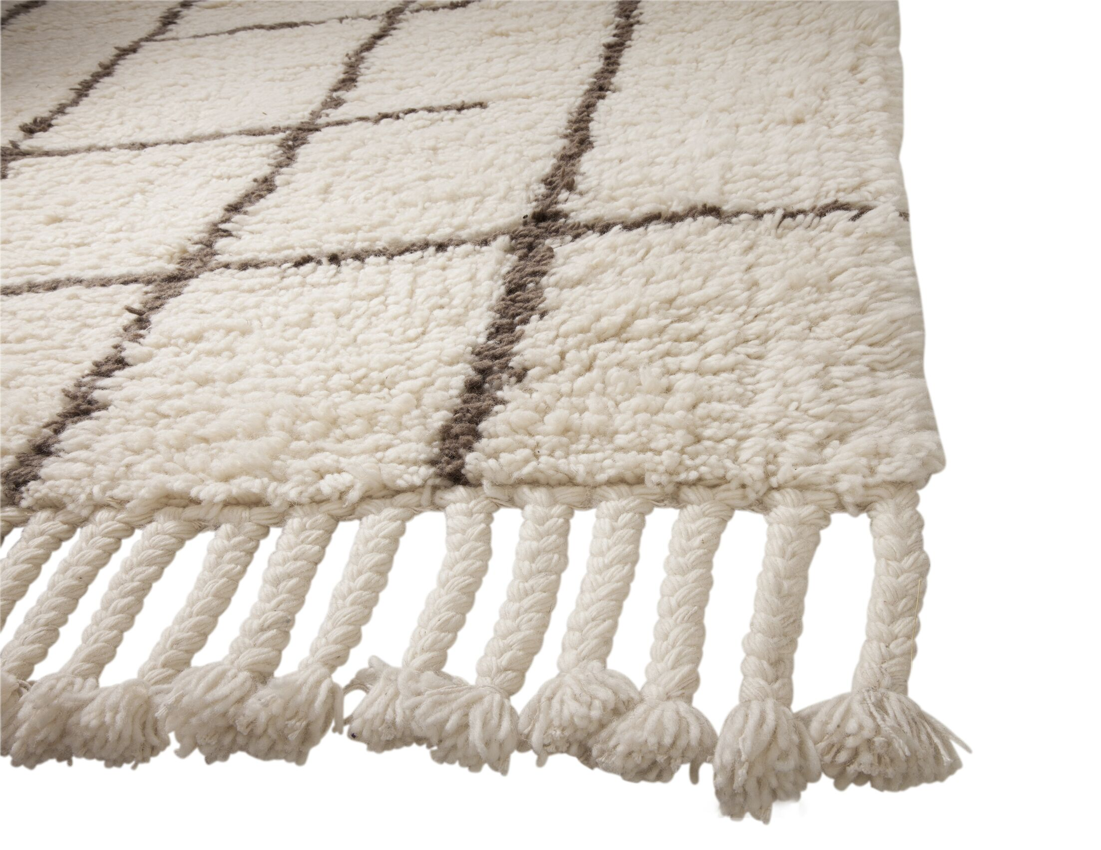 Lisson Hand Woven Wool Off White Area Rug Rug Size: 5' x 8'