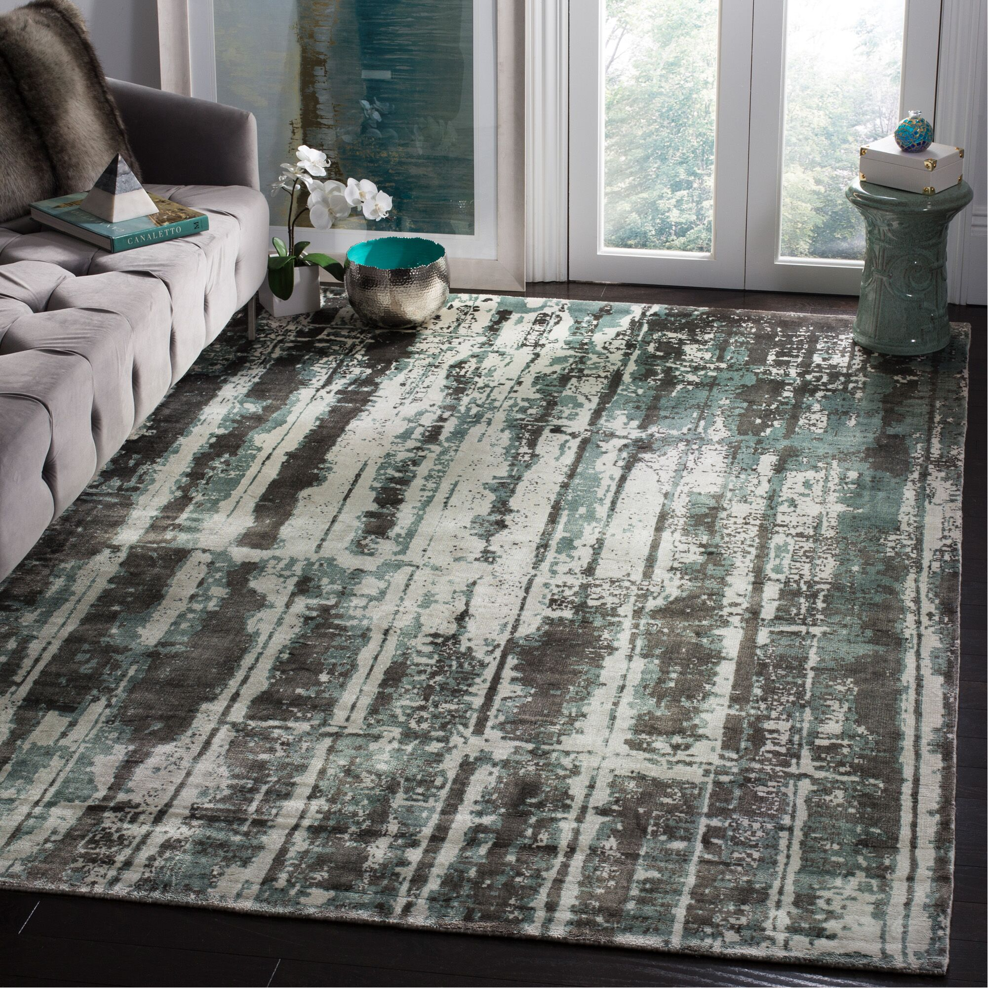 Zowie Hand Woven Cotton Silver Area Rug Rug Size: Rectangle 6' x 9'