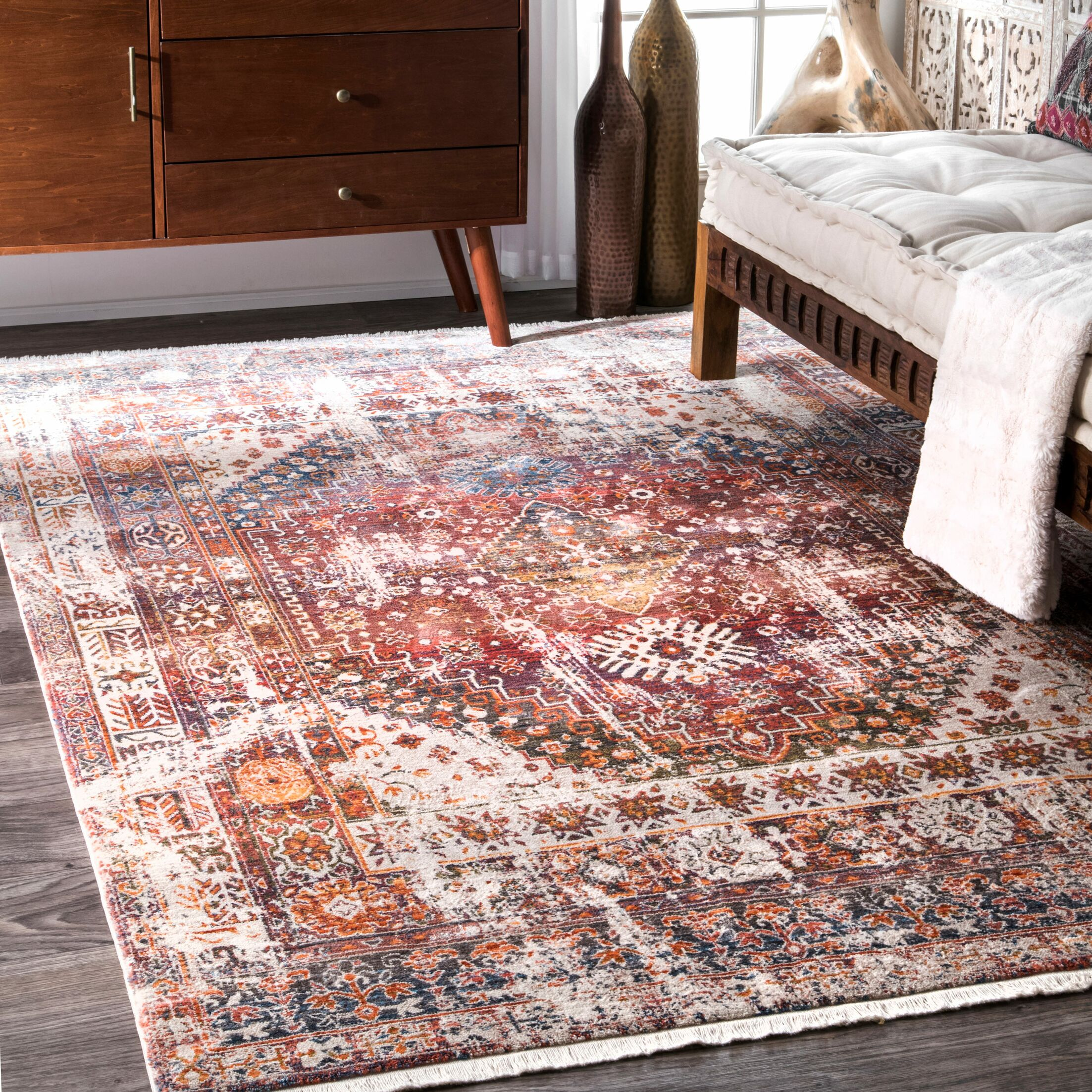 Shiv Rust Area Rug Rug Size: Rectangle 8' x 10'