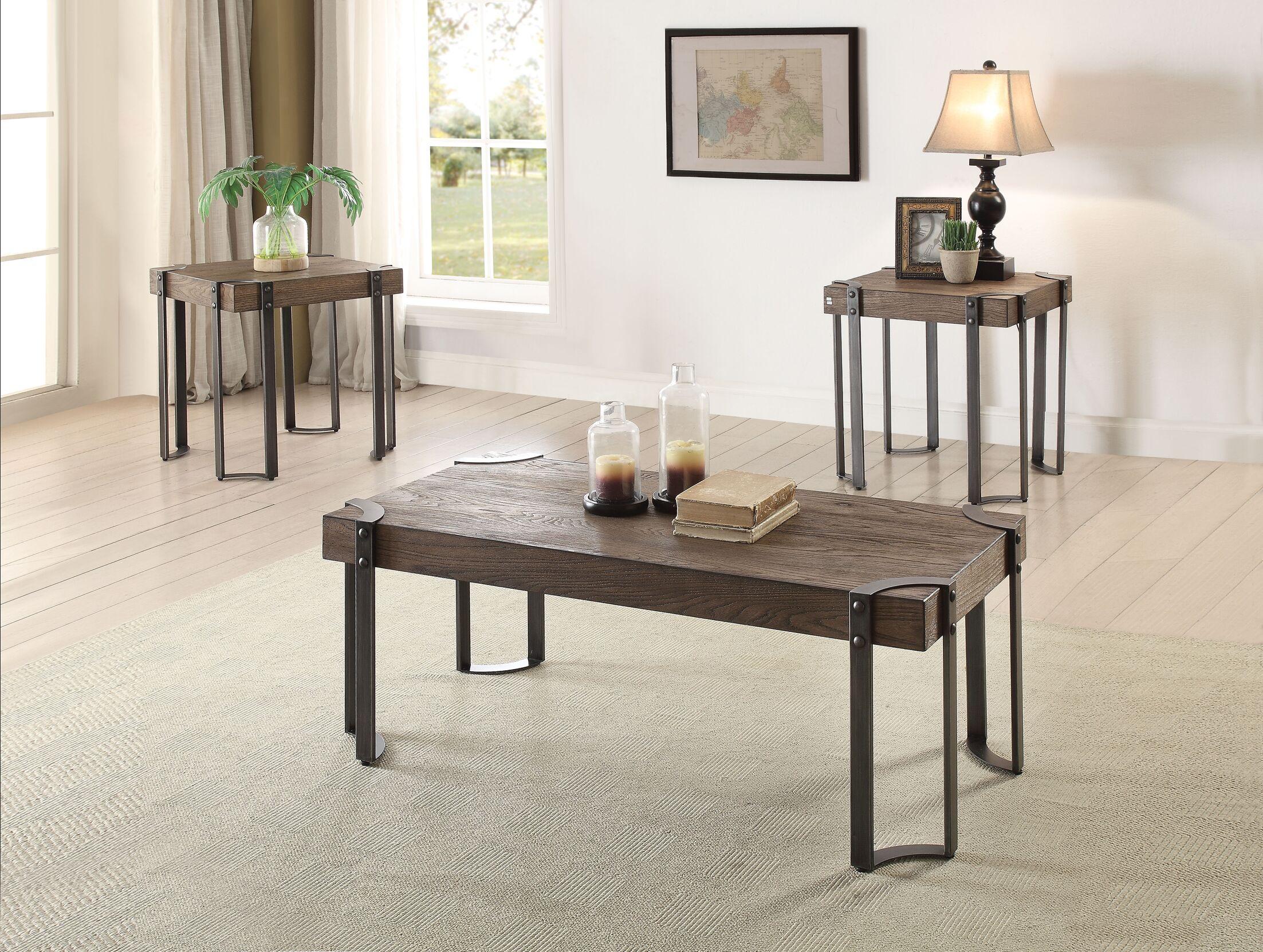 Cristobal 3 Piece Coffee Table Set