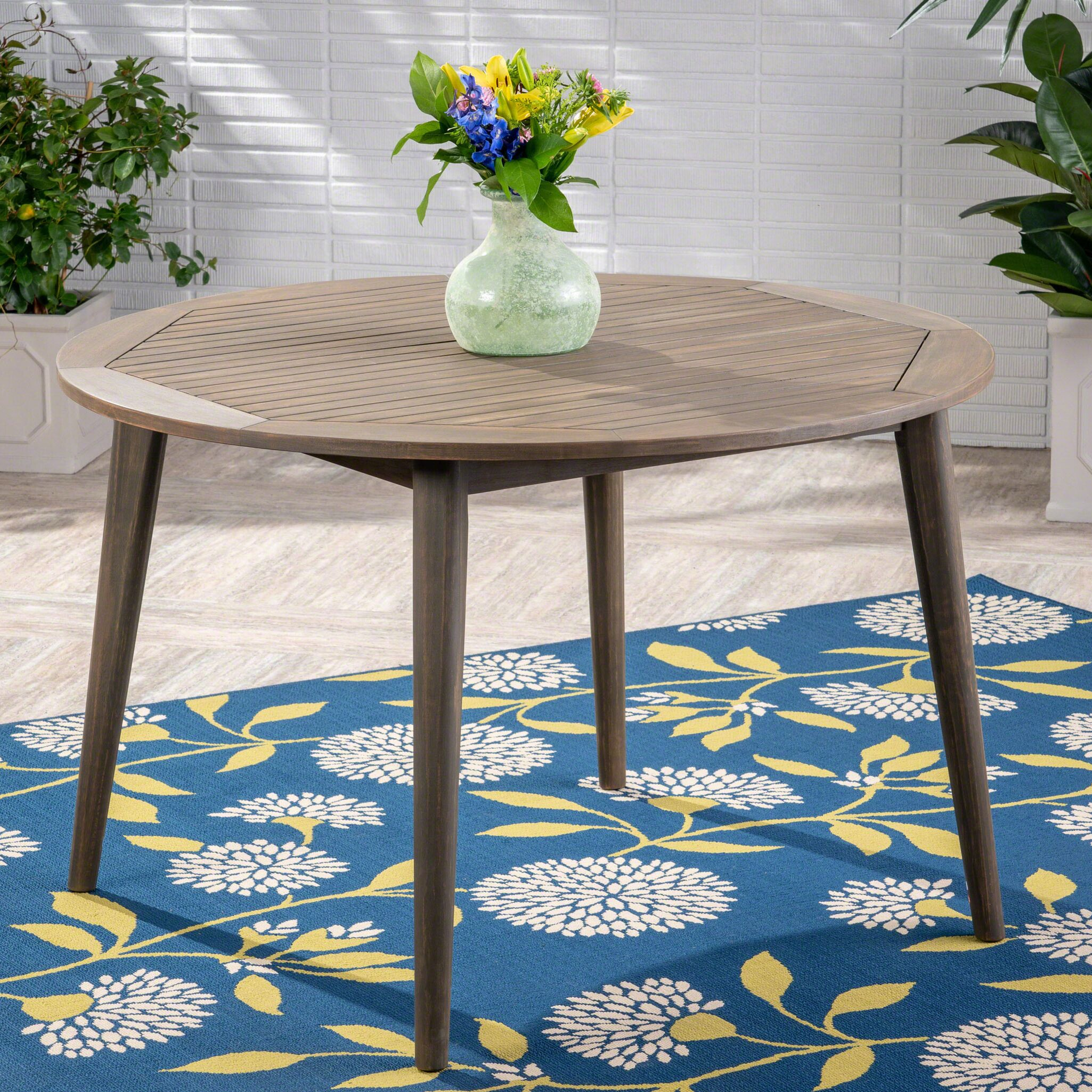 Gardner Wooden Dining Table Color: Gray