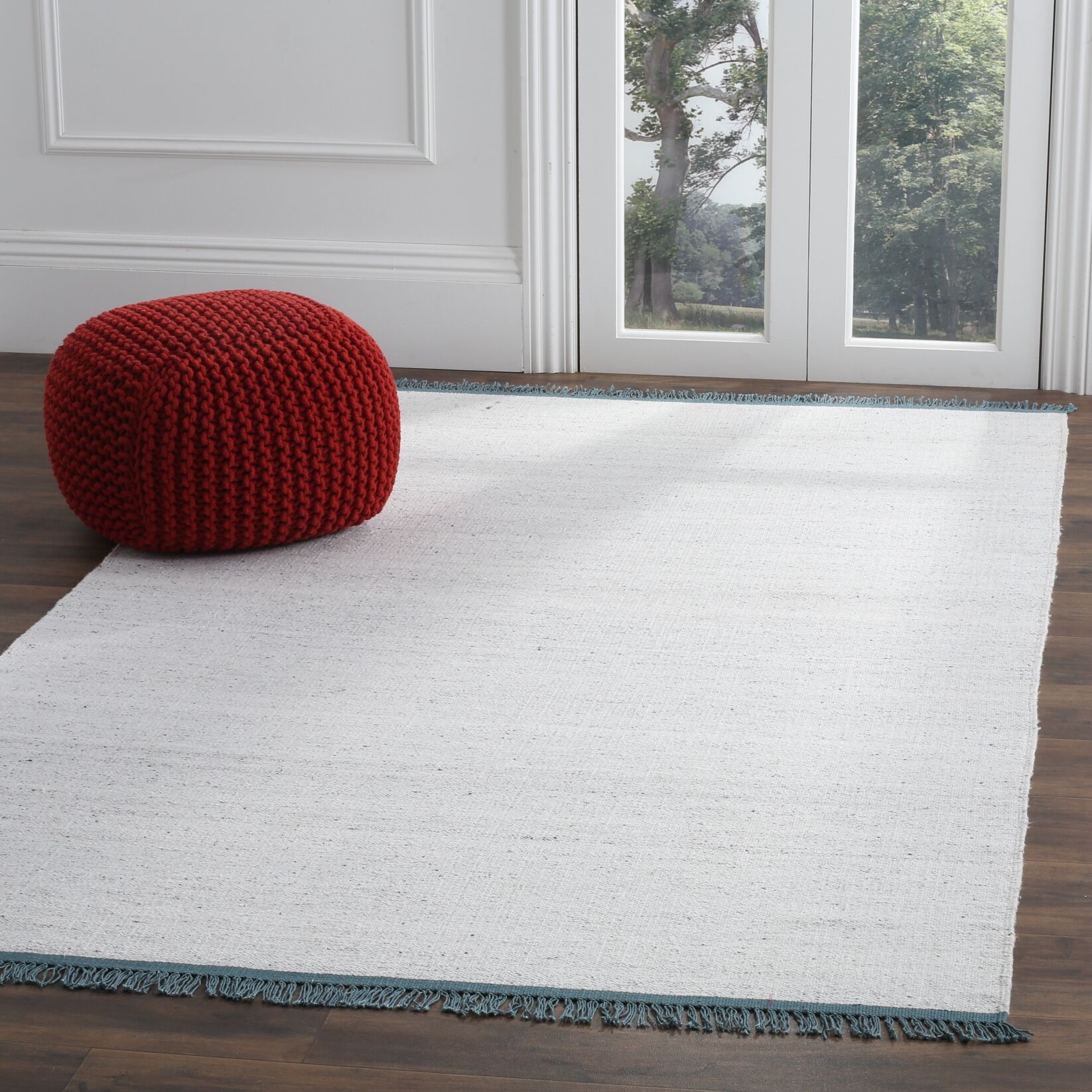 Sojourn Hand-Woven Gray/Blue Area Rug Rug Size: Rectangle 5' x 8'