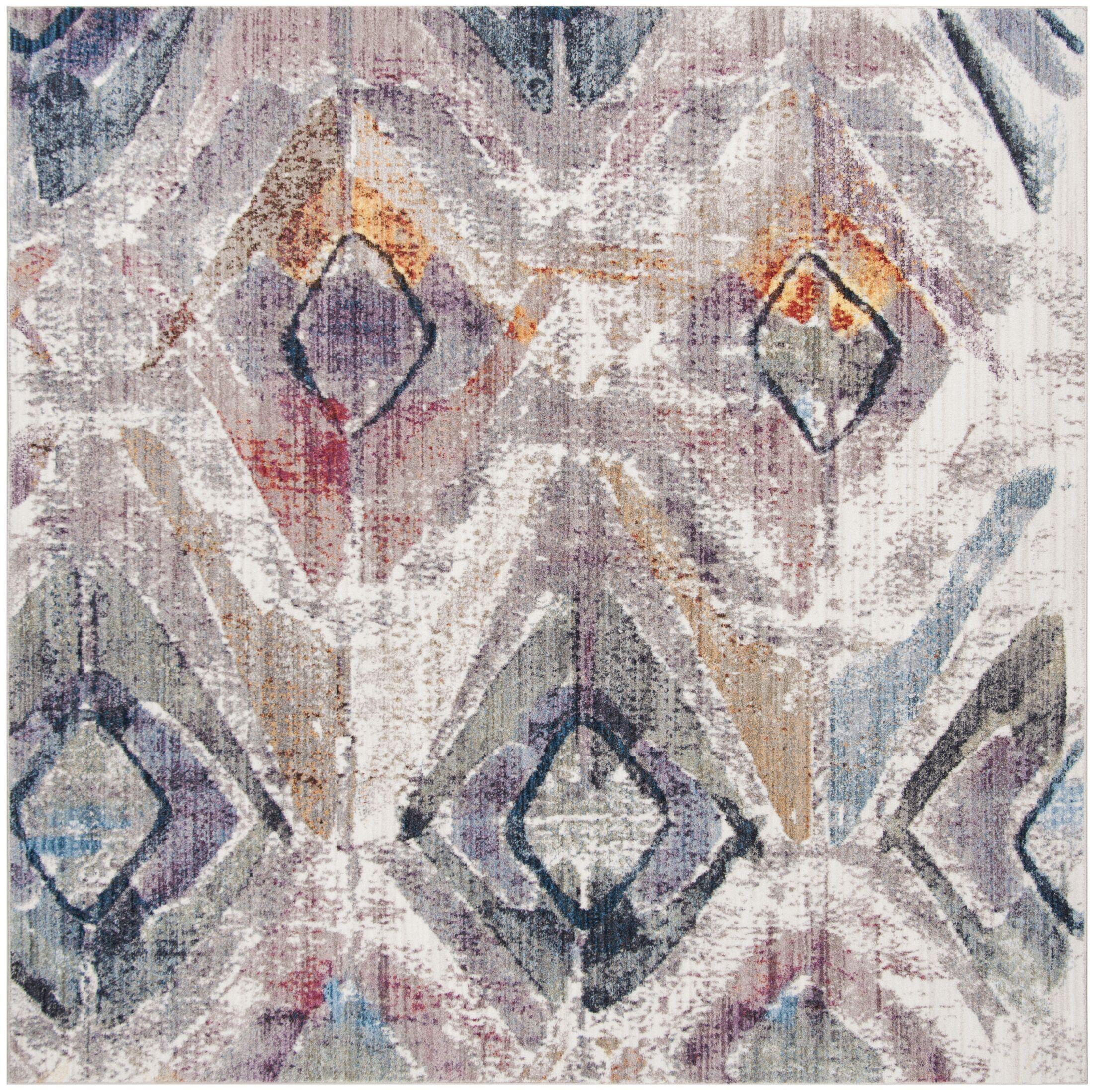 Newport Lavender/Light Gray Area Rug Rug Size: Square 7'