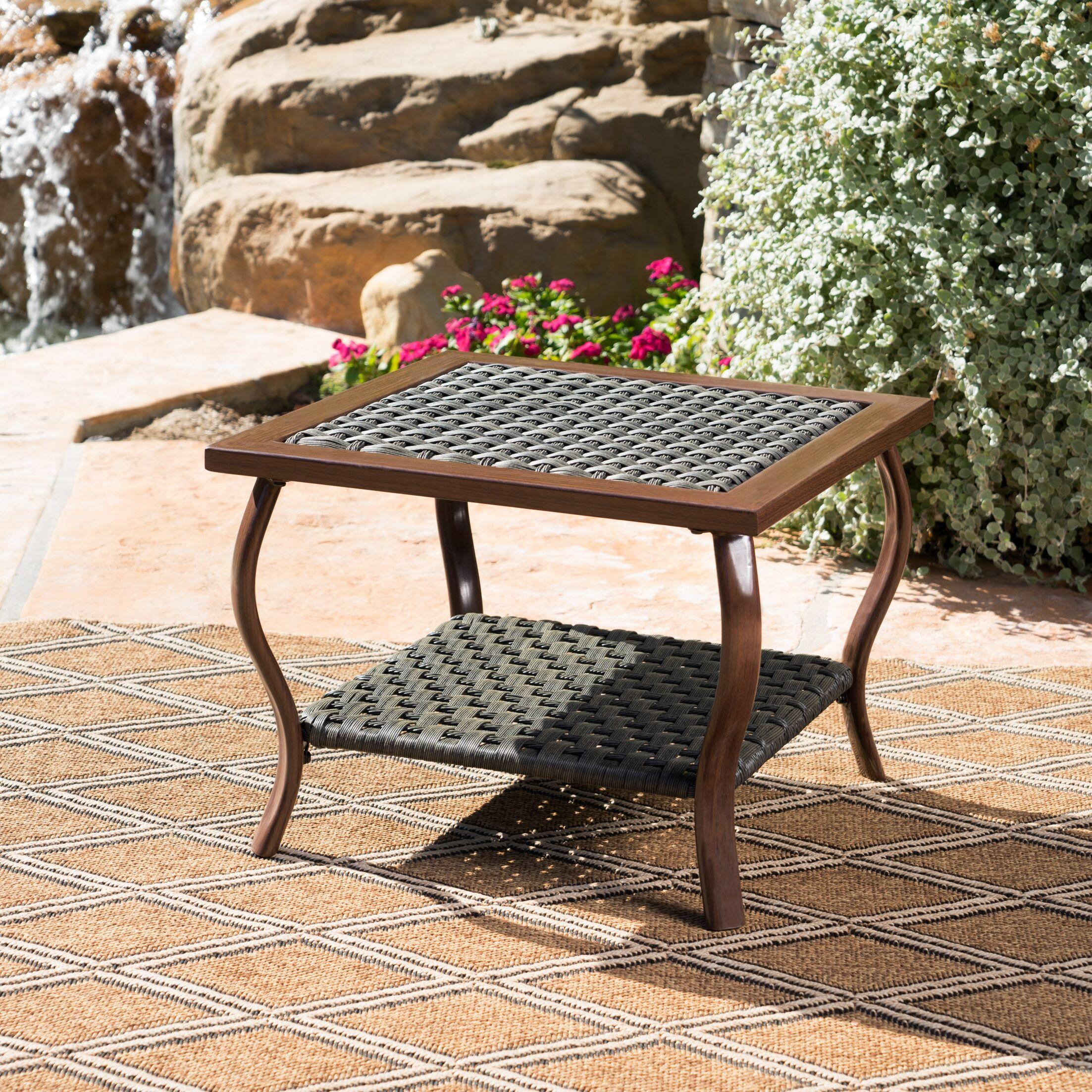 Drago Outdoor Coffee Table Color: Gray
