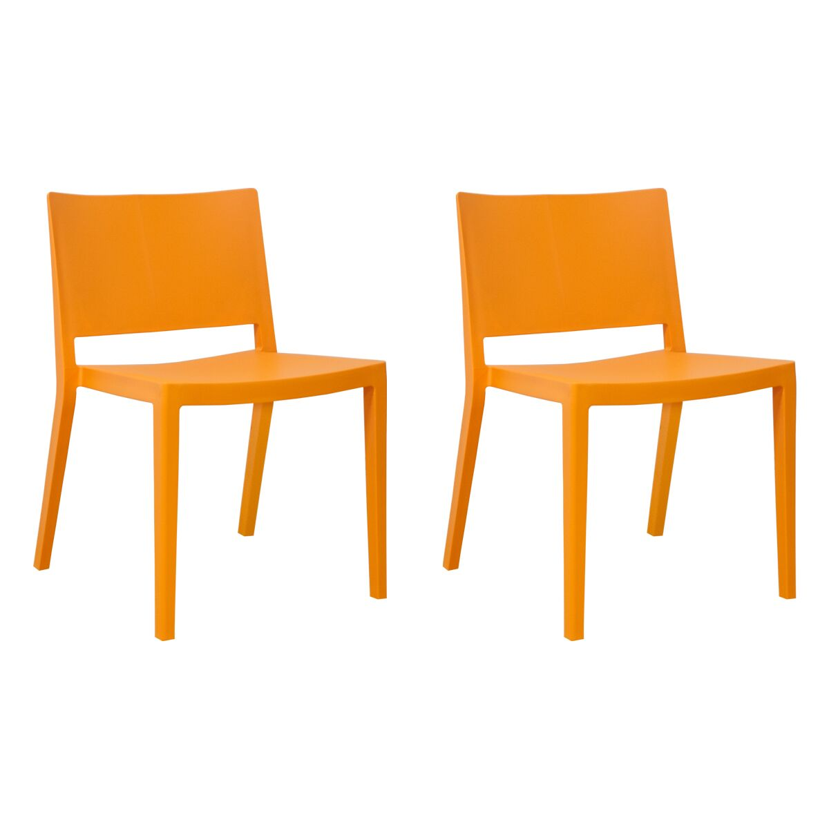 Burrus Dining Chair Color: Orange