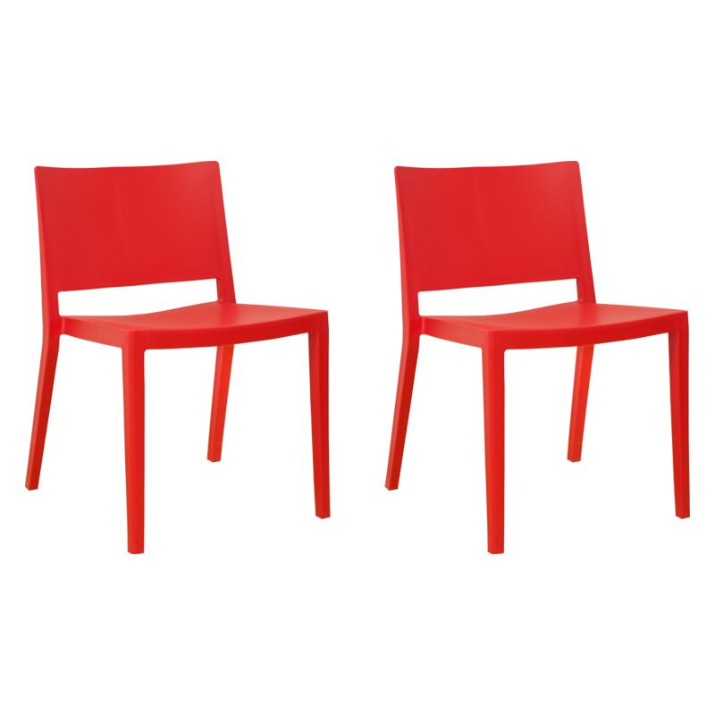 Burrus Dining Chair Color: Red