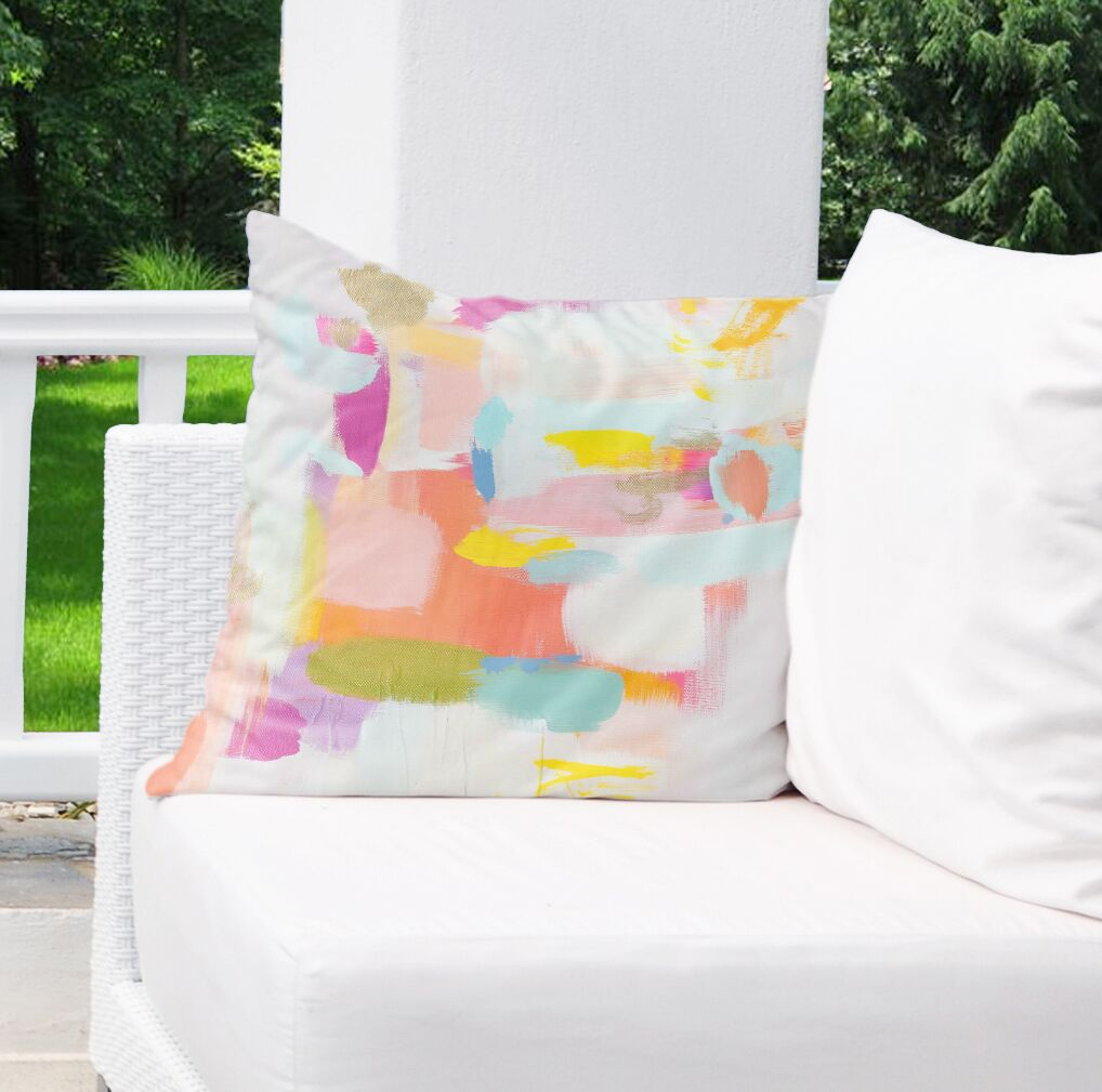 Wandy Outdoor Throw Pillow Size: 26