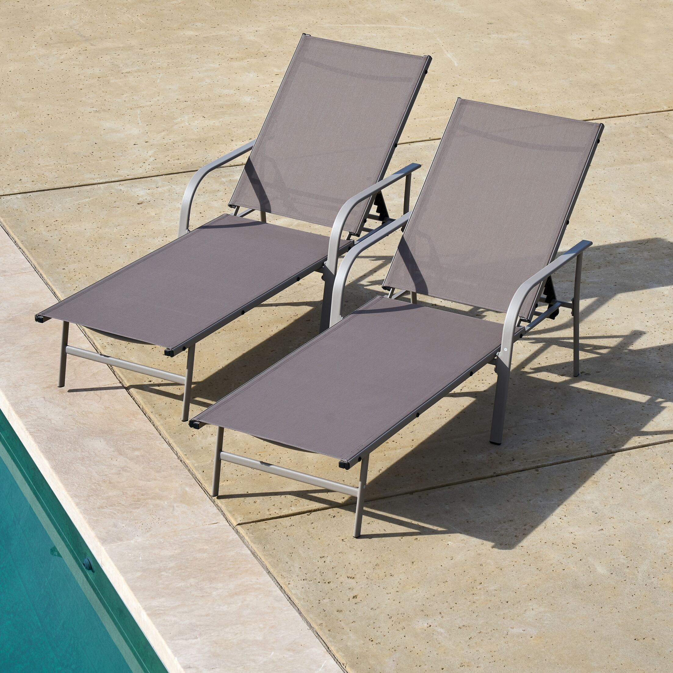 Armando Outdoor Chaise Lounge Color: Brown