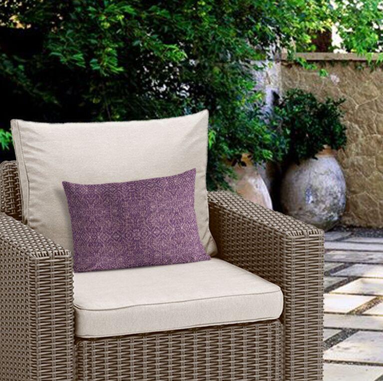 Conyingham Outdoor Lumbar Pillow Color: Purple