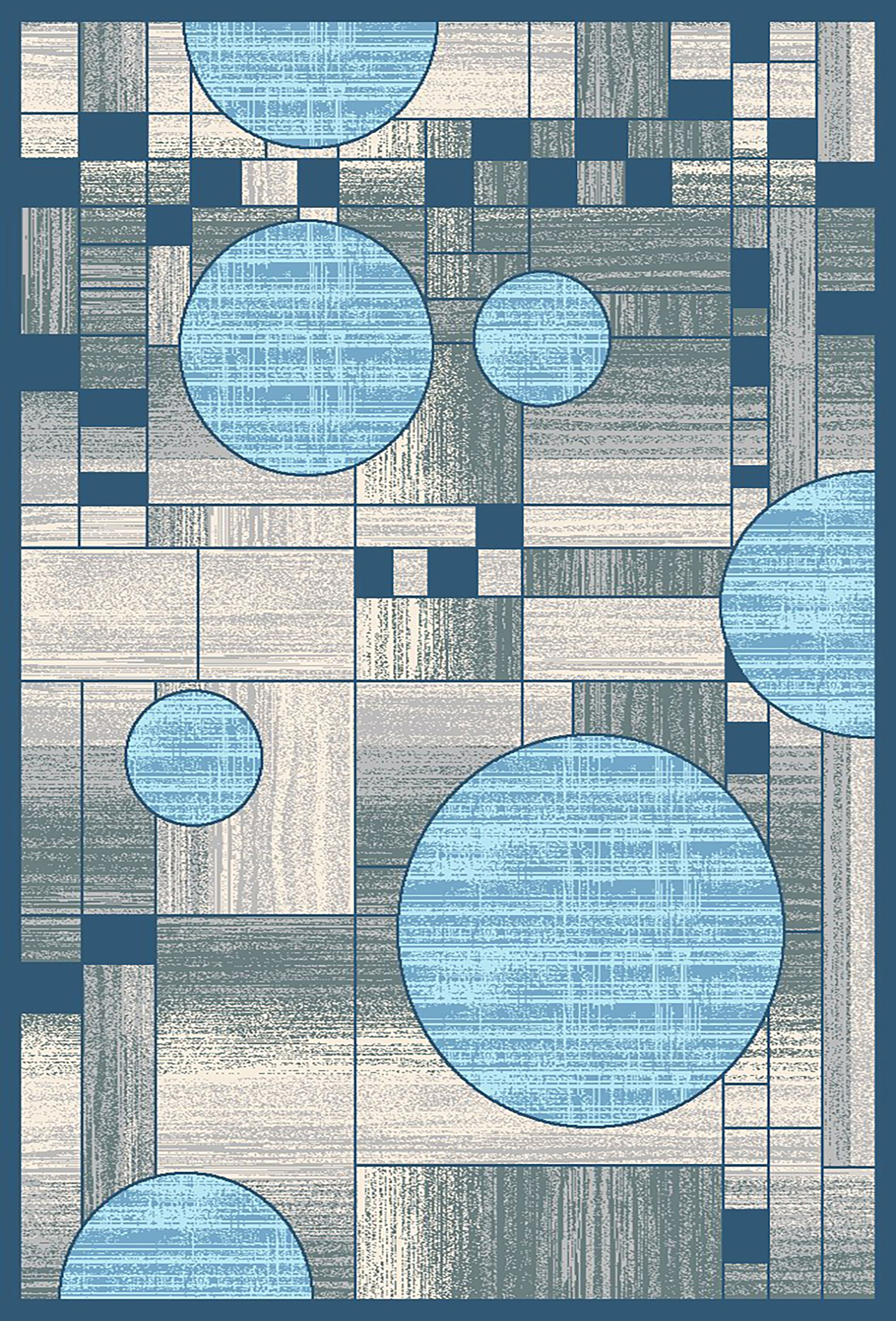 Mccampbell 3D Gray/Blue Area Rug Rug Size: Rectangle 5' x 7'