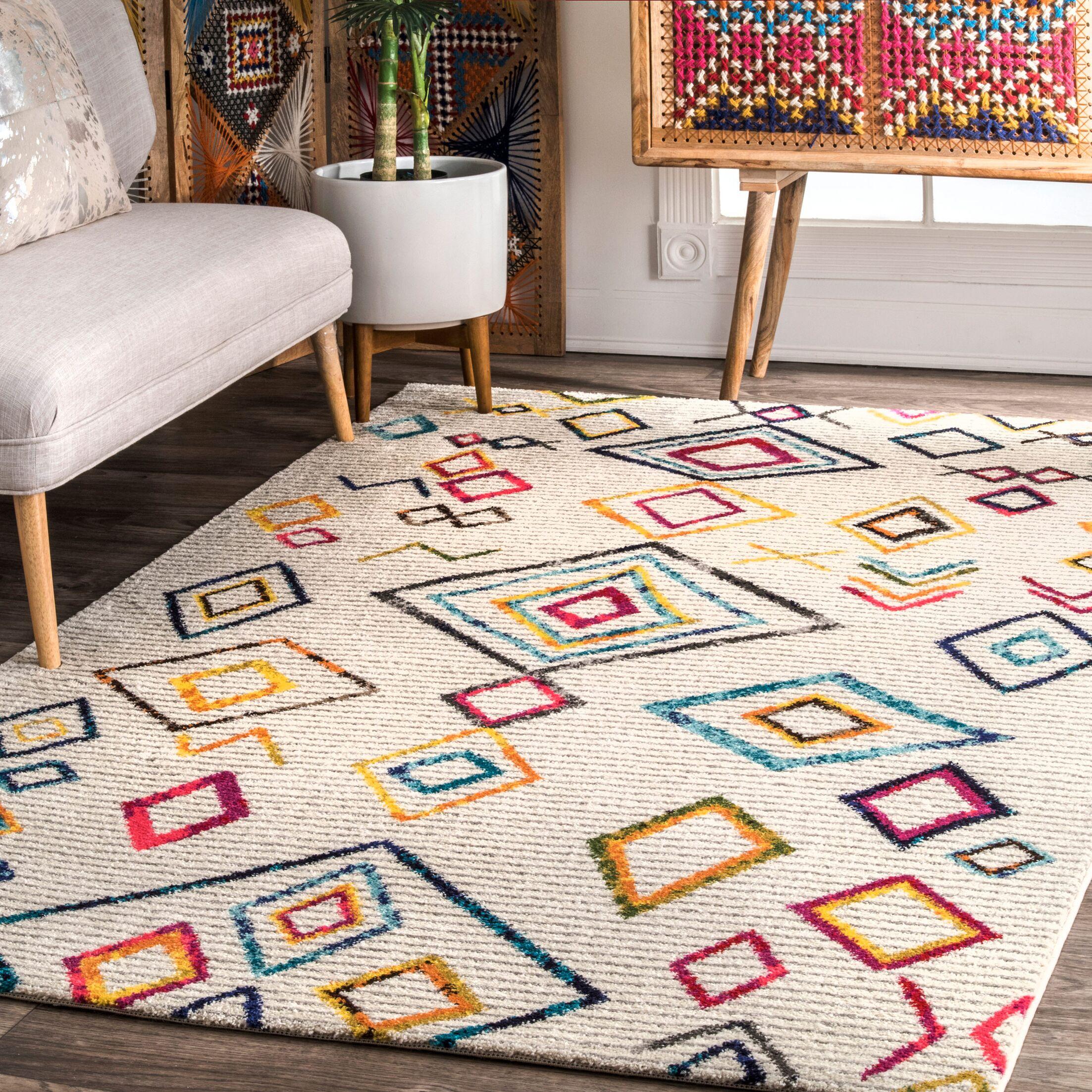 Elwes Ivory Area Rug Rug Size: Rectangle 8' x 10'