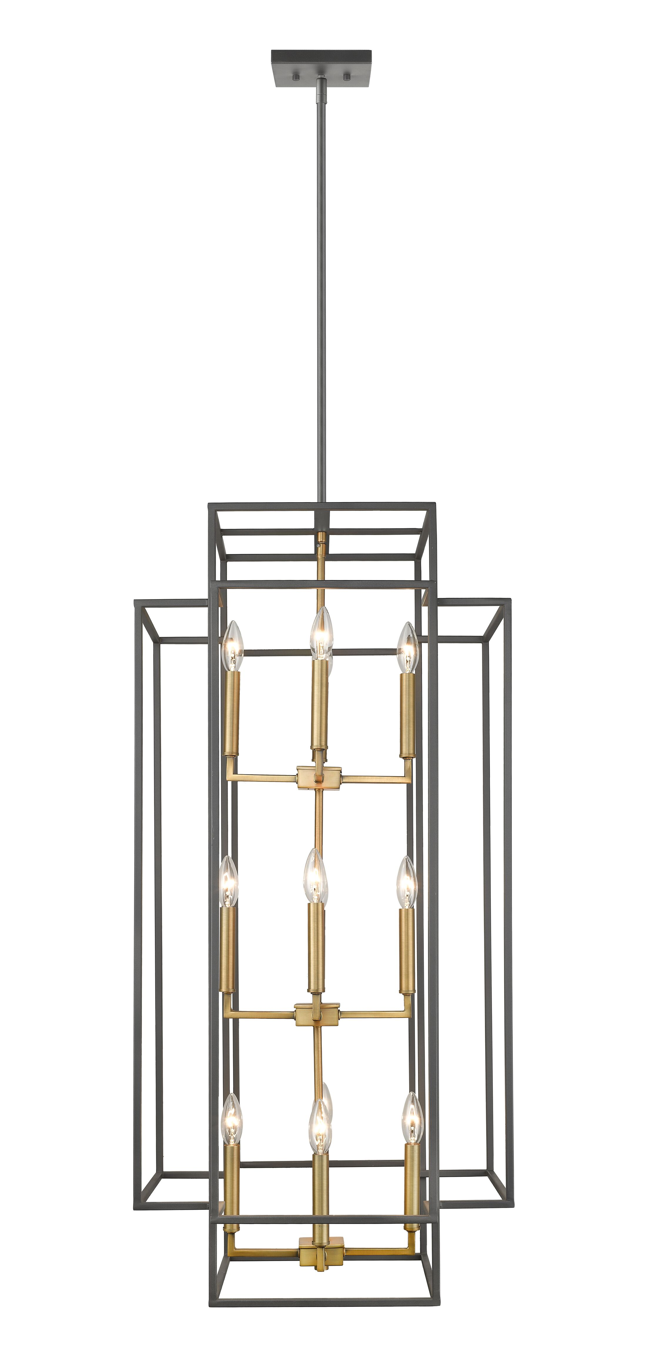 Bedingfield 12-Light Lantern Pendant Finish: Bronze/Olde Brass