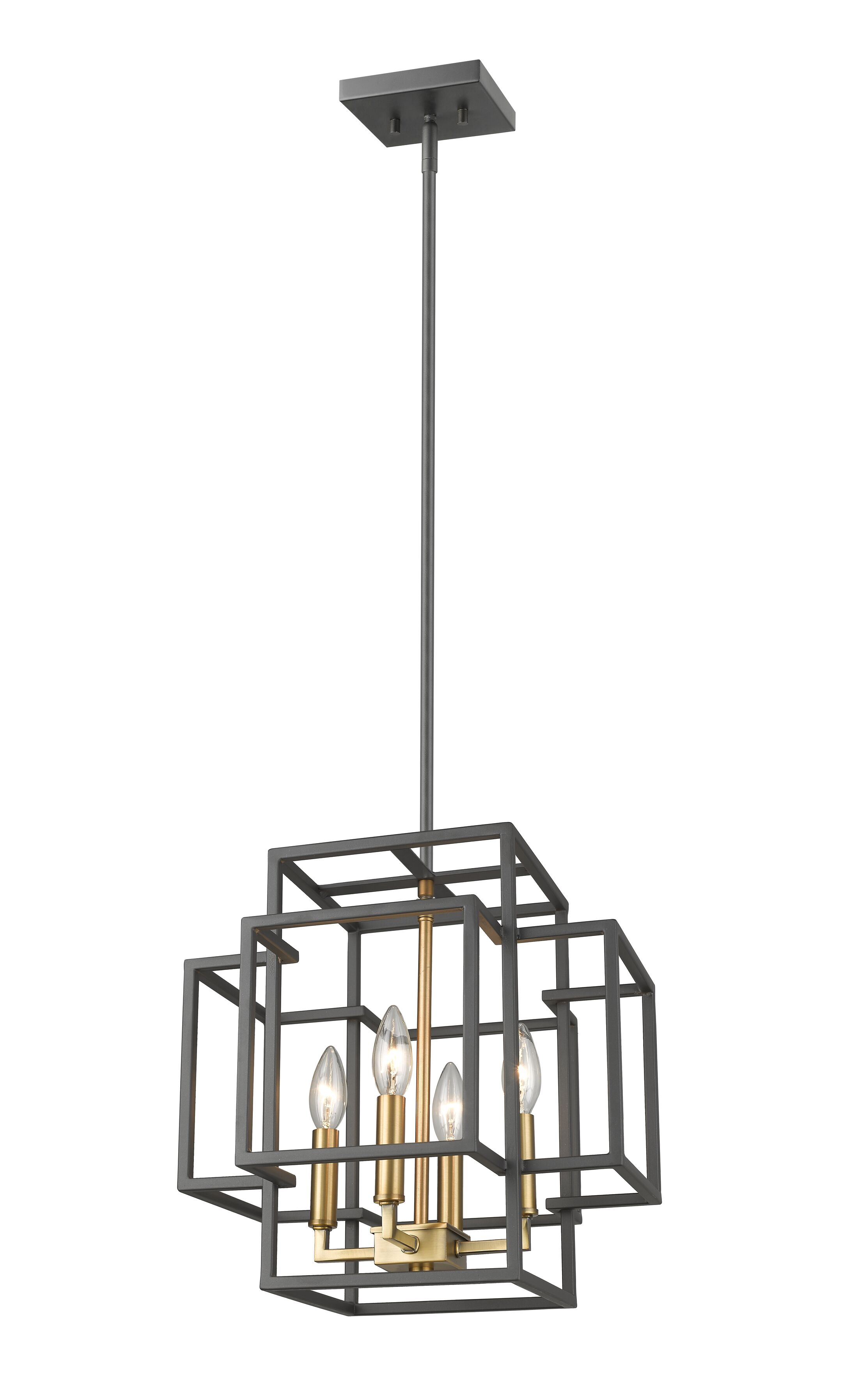 Bedingfield 4-Light Rectangle Pendant Size: 22