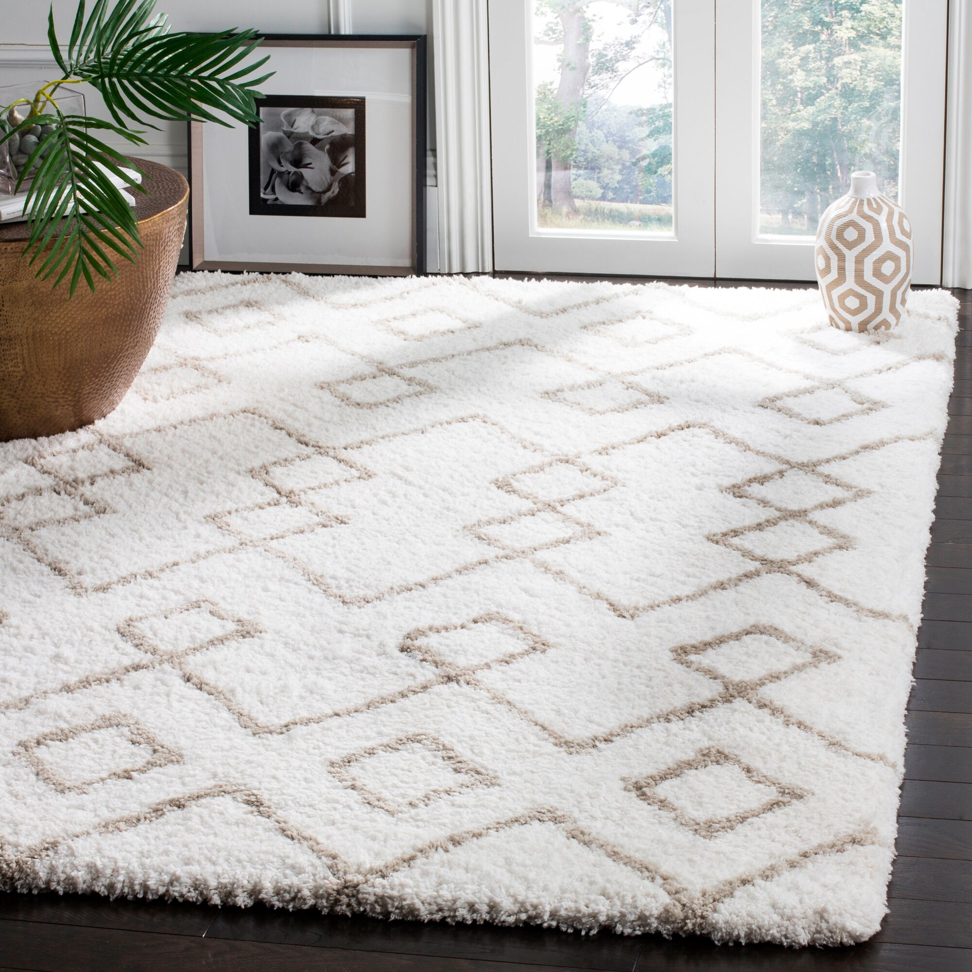 Livingstone Hand-Tufted Ivory/Silver Area Rug Rug Size: Rectangle 6' x 9'