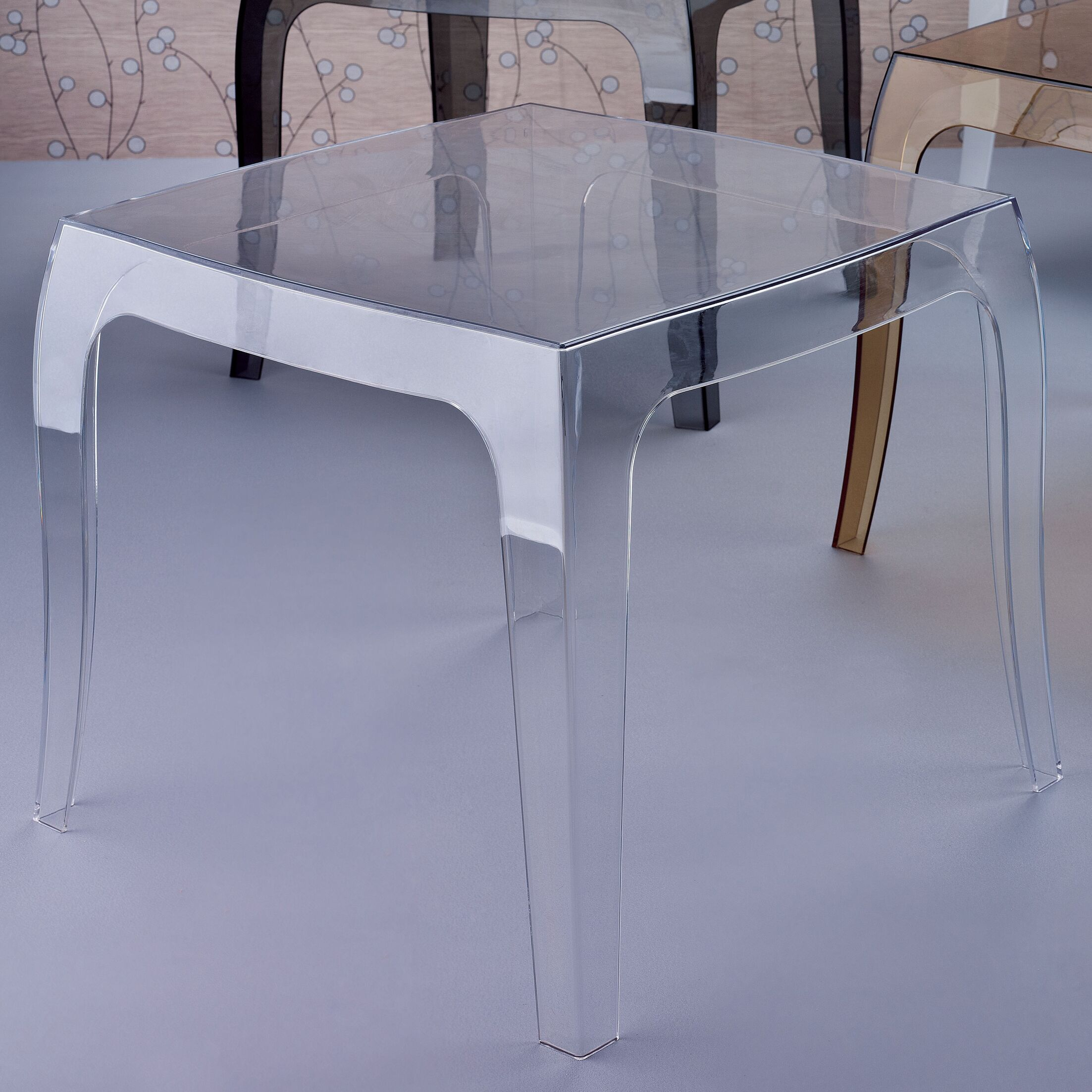 Elinn Queen Side Table Color: Transparent Clear