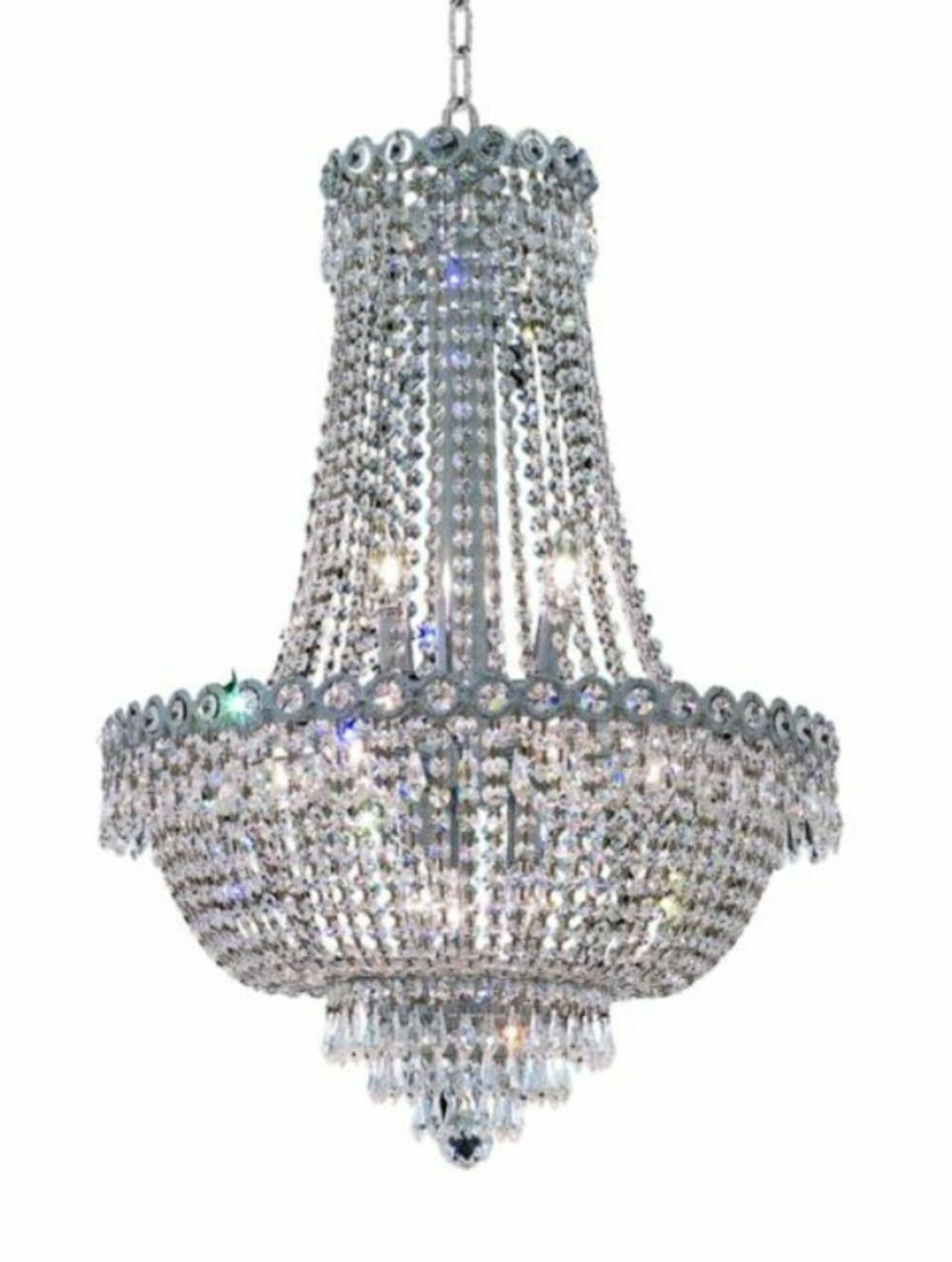 Lorna Glam 12-Light Empire Chandelier Size / Finish / Crystal Trim: 20