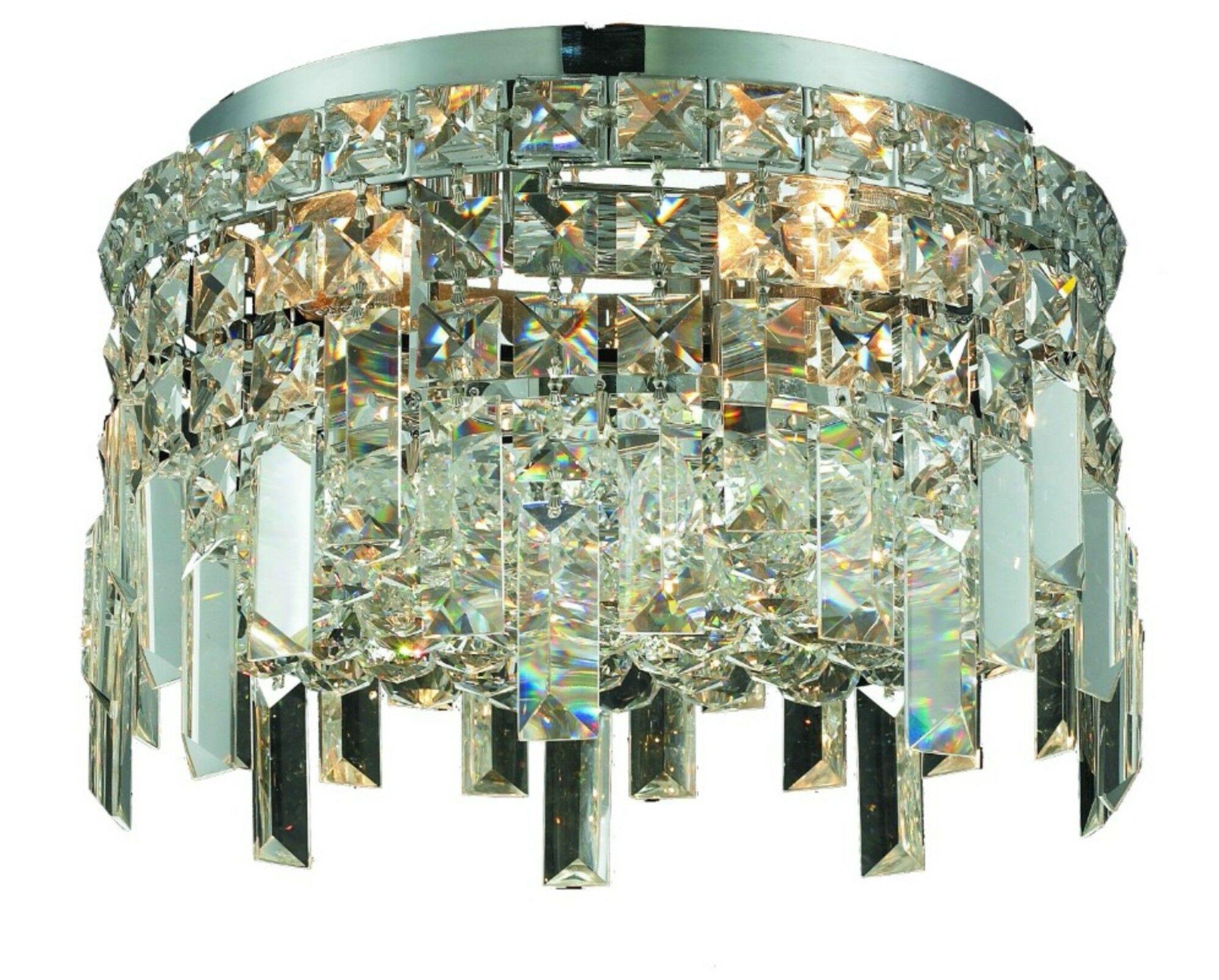 Bratton 4-Light Crystal Semi Flush Mount Size / Crystal Grade: 12