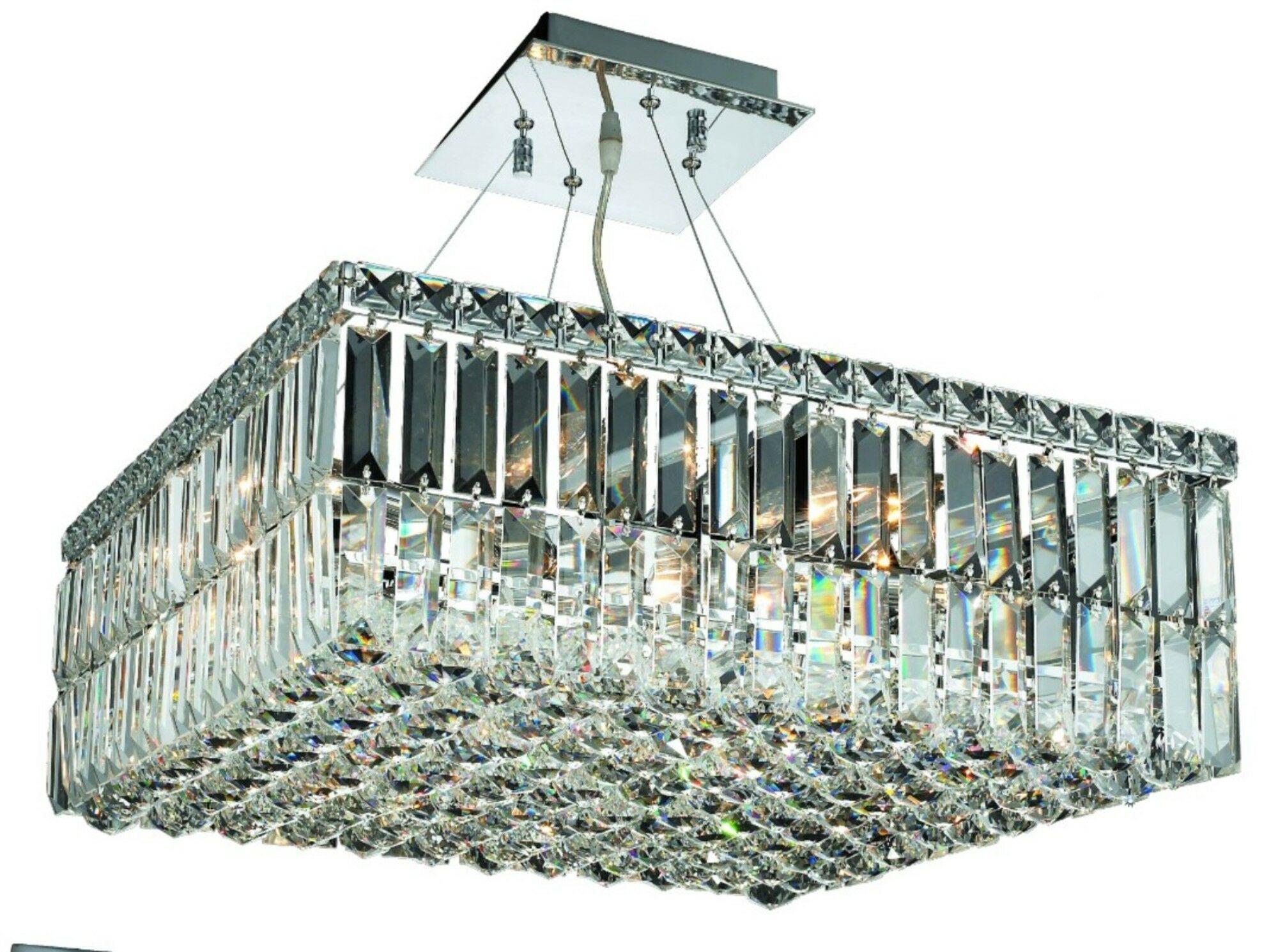 Bratton 12-Light 60W Semi Flush Mount Size / Crystal Grade: 32