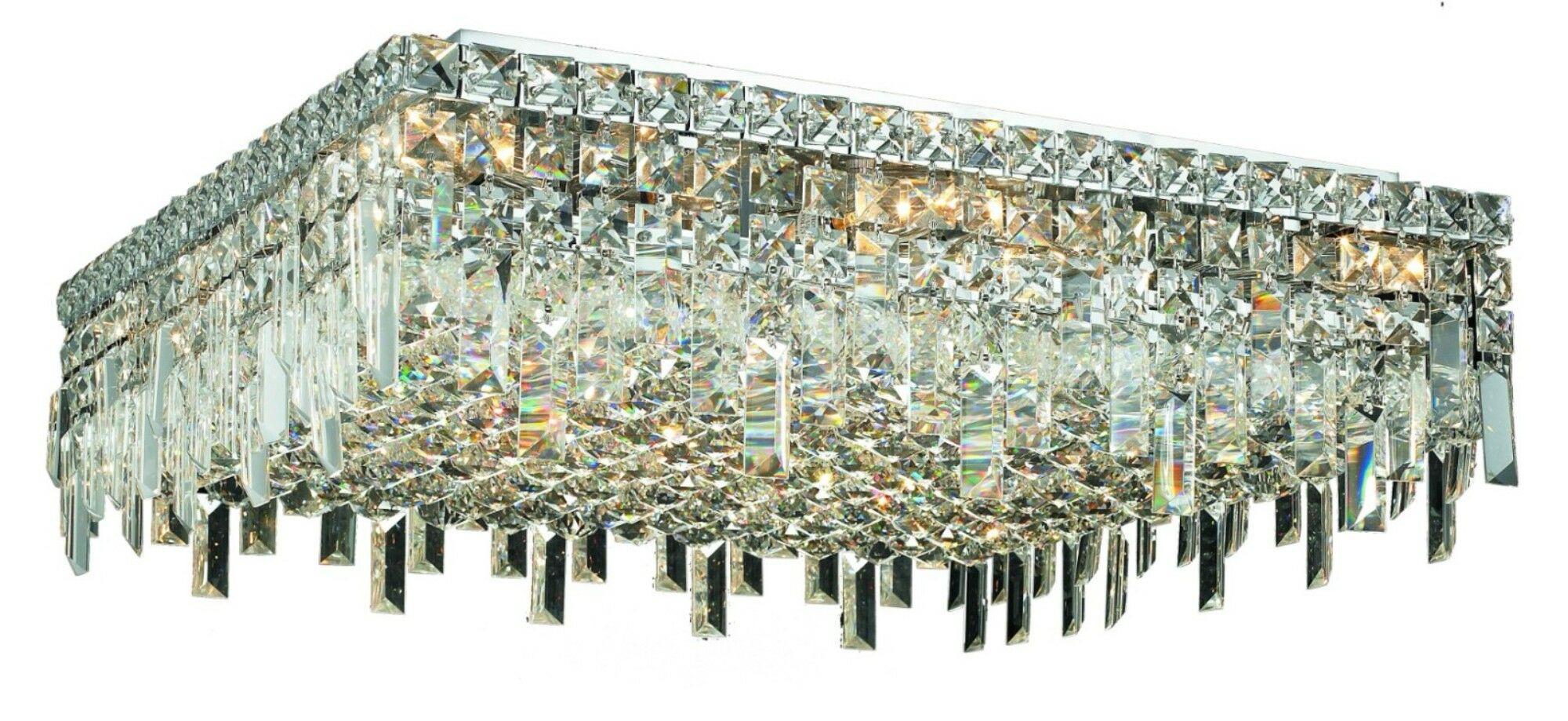 Bratton 13-Light Semi Flush Mount Crystal Grade: Strass Swarovski
