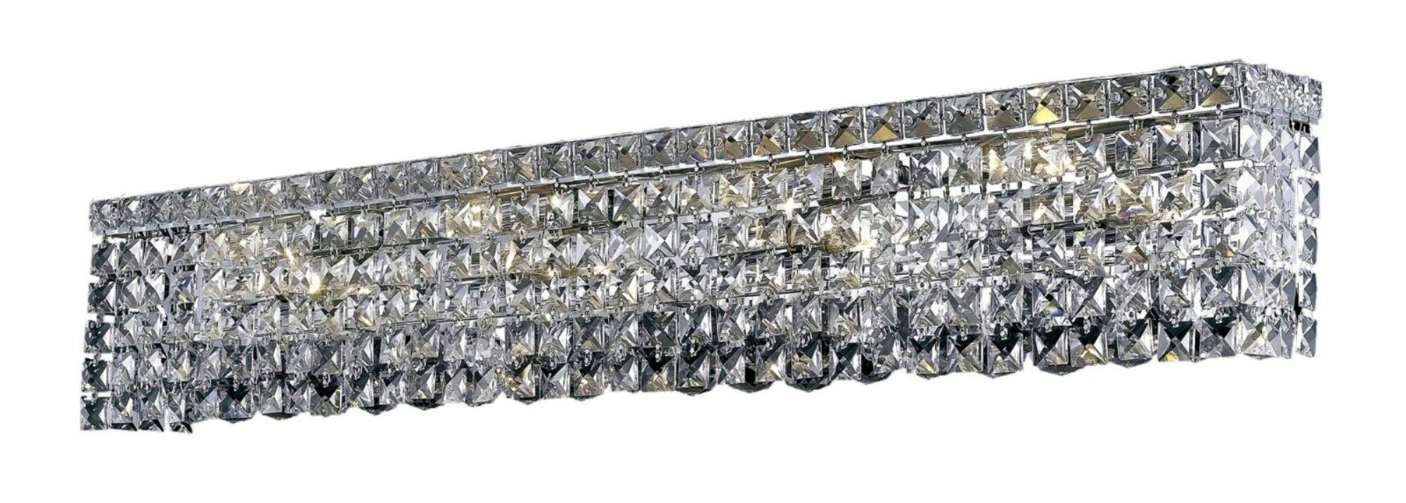 Bratton 8-Light Flush Mount Crystal Color: Crystal Clear, Crystal Grade: Spectra Swarovski
