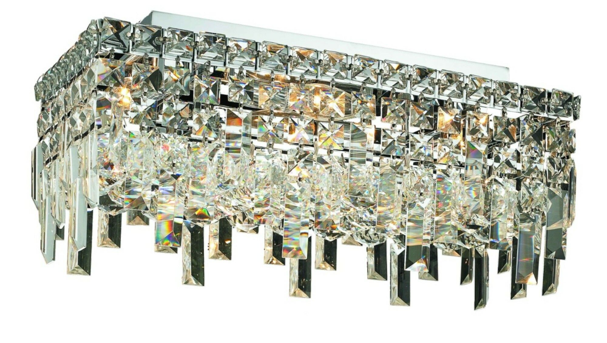 Bratton 4-Light Semi Flush Mount Crystal Grade: 16
