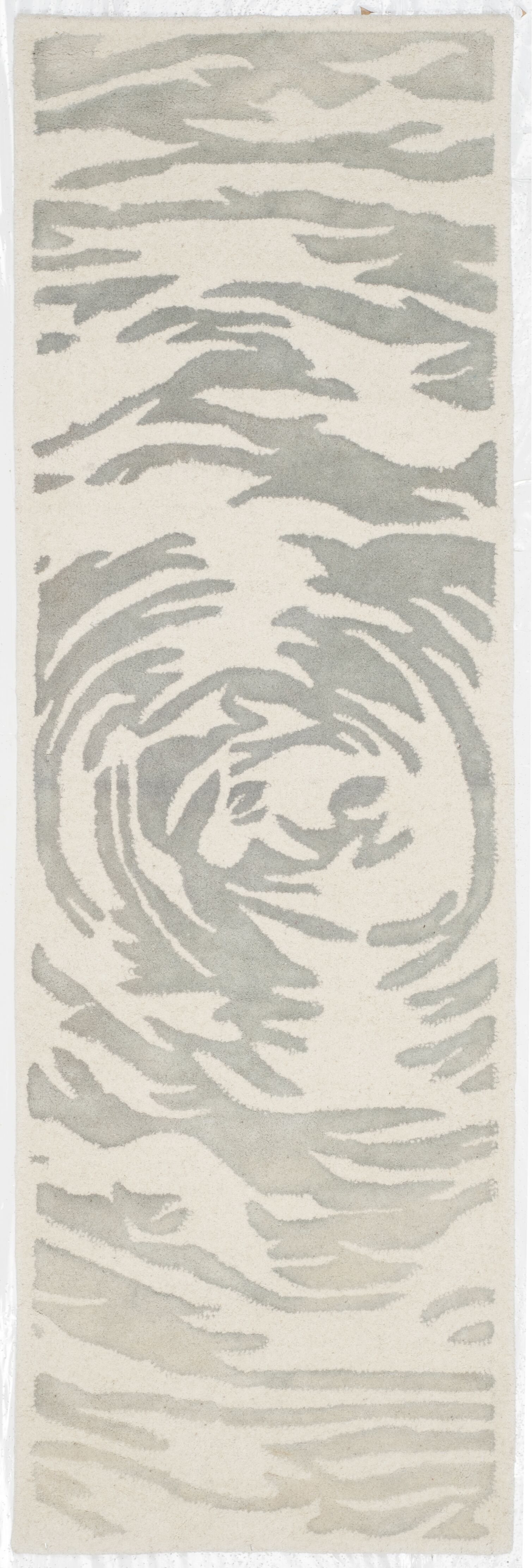 Adan Hand-Tufted Ivory/Grey Area Rug Rug Size: Runner 2'3