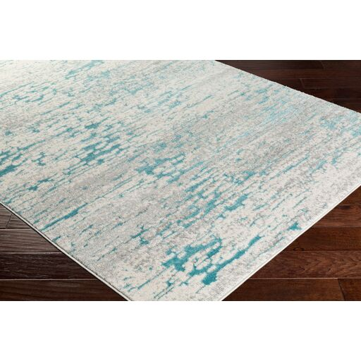 Annice Abstract Teal/Light Gray Area Rug Rug Size: Rectangle 5'3