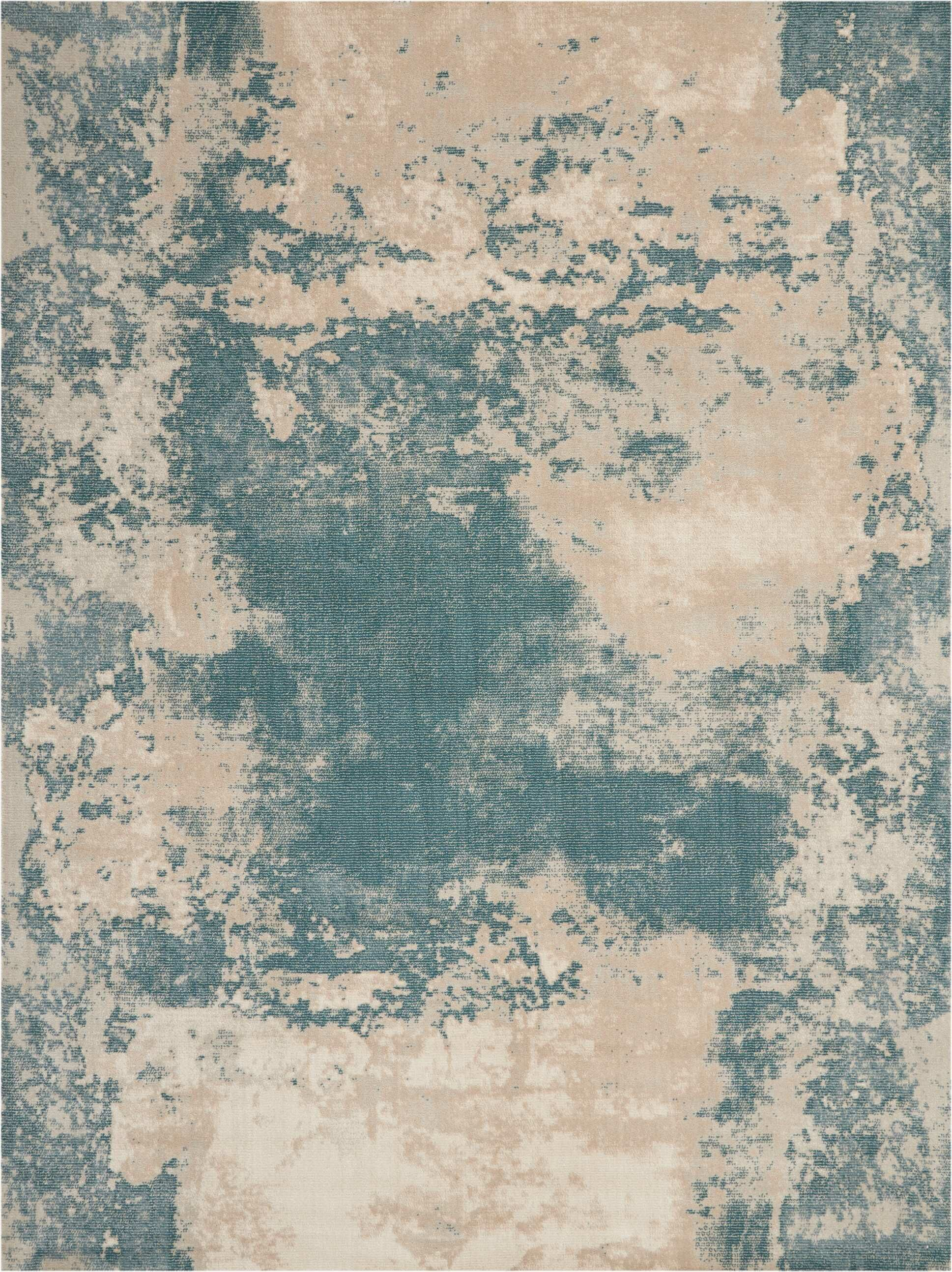 Mana Ivory/Teal Area Rug Rug Size: Rectangle 7'10
