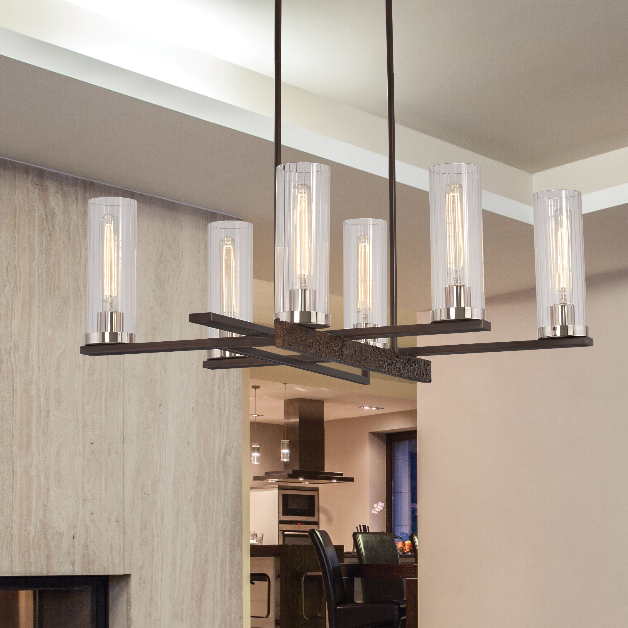 Croxton 6-Light Shaded Chandelier