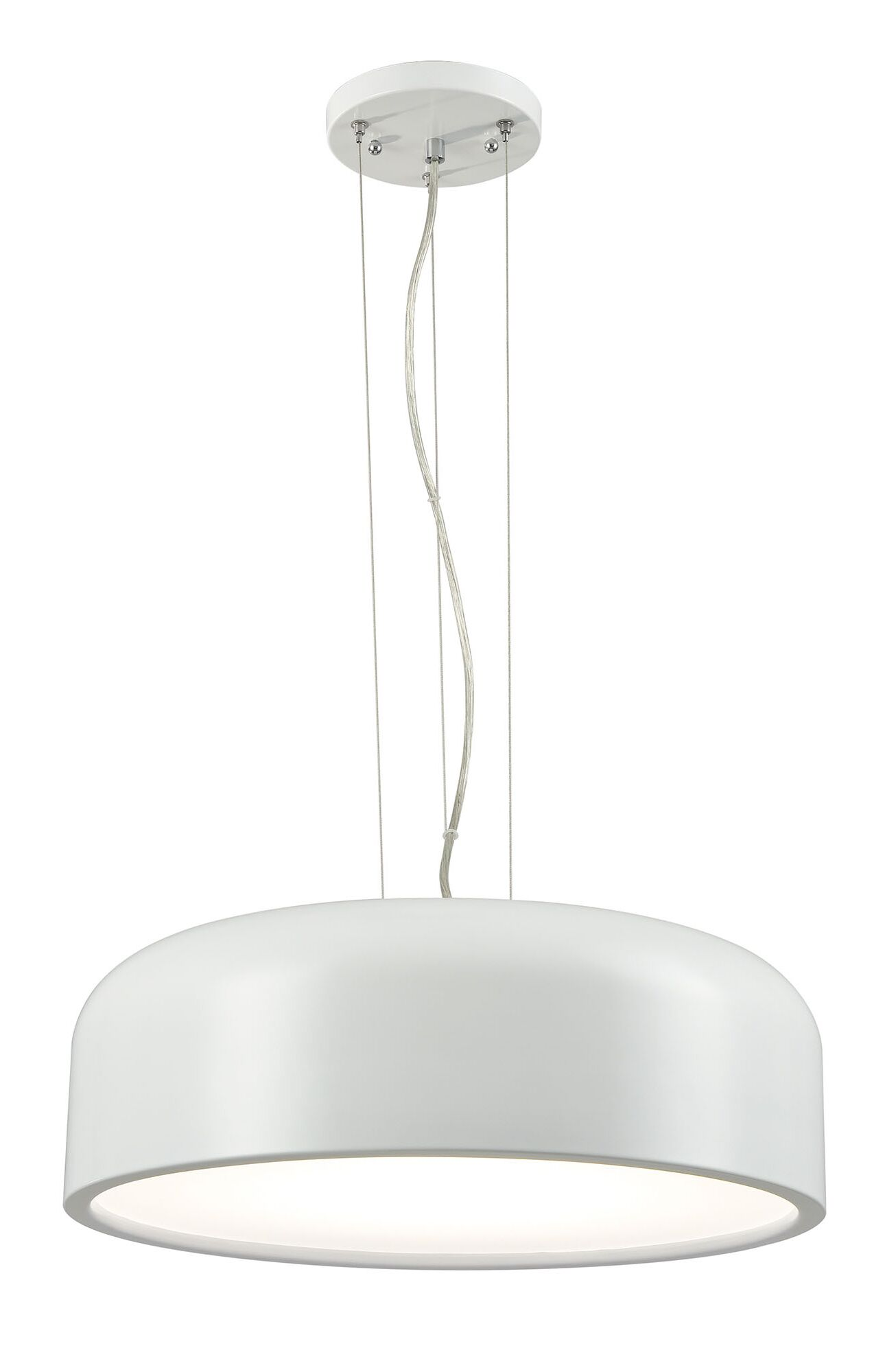 Barksdale 1-Light  LED Drum Pendant