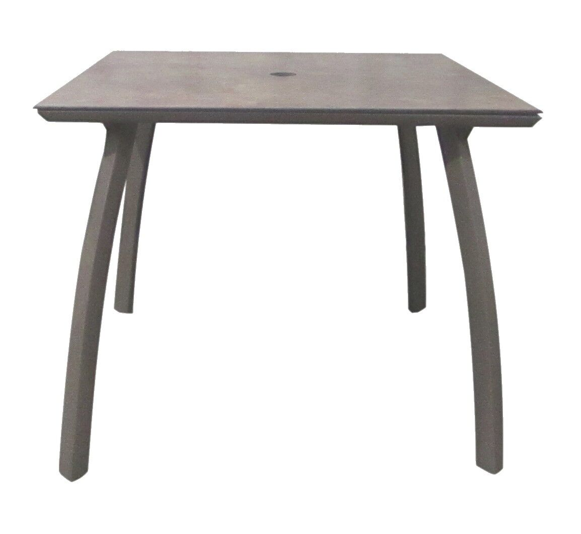 Leighann Square Dining Table Color: Volcanic Black