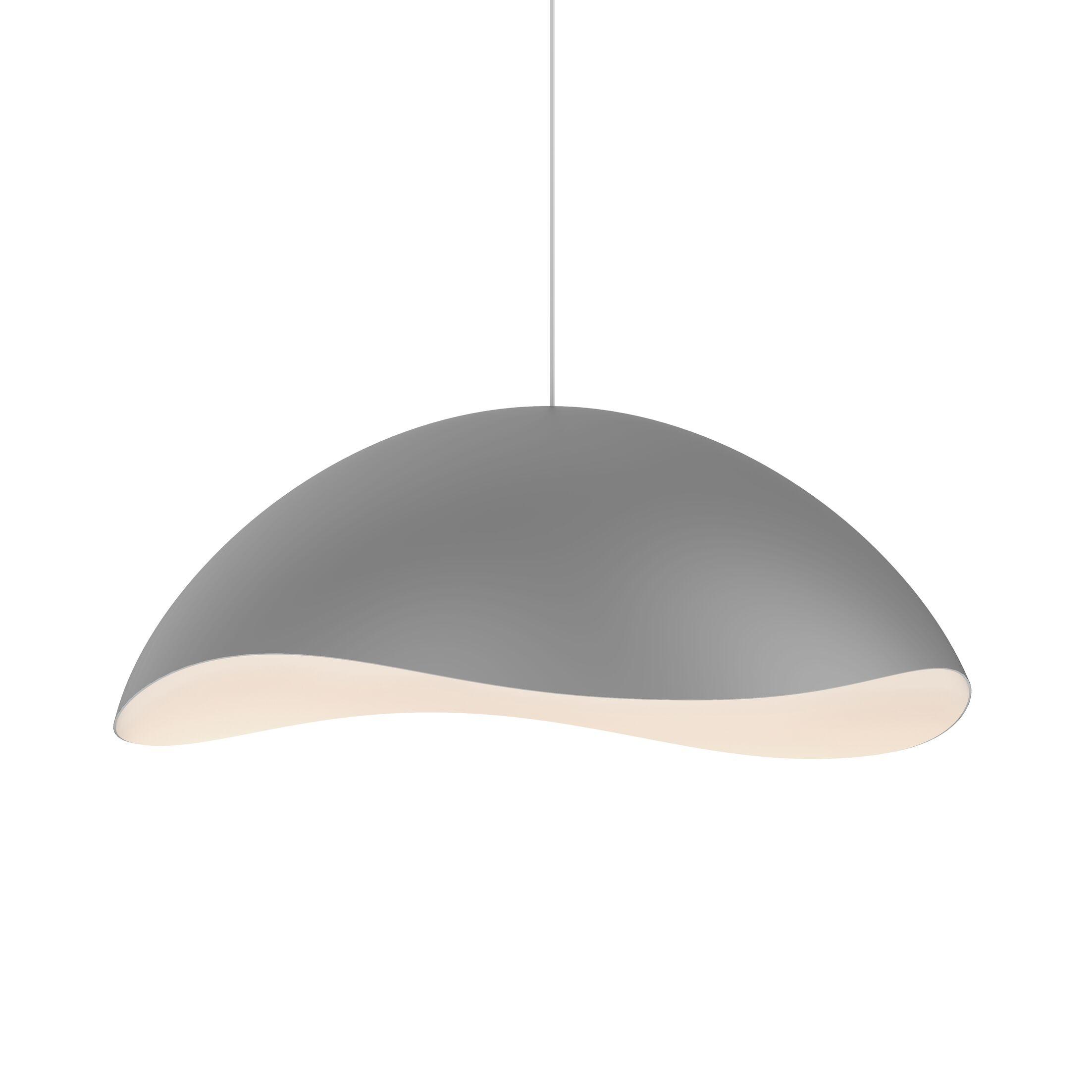 Frazier 1-Light  LED  Pendant Finish: Dove Gray/White