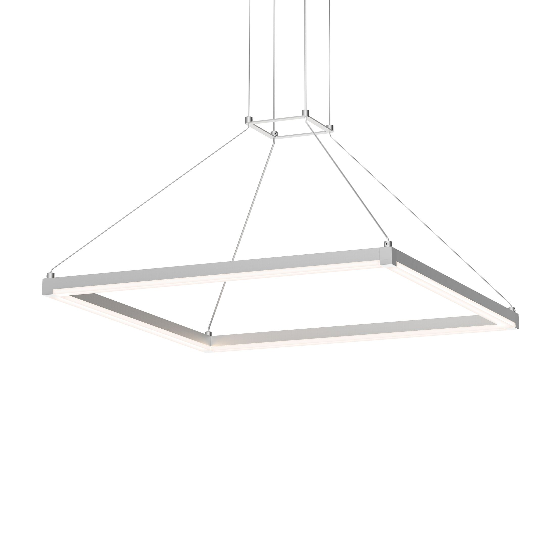 Poythress Modern LED Hardwired Square/Rectangle Pendant Finish: Bright Satin Aluminum