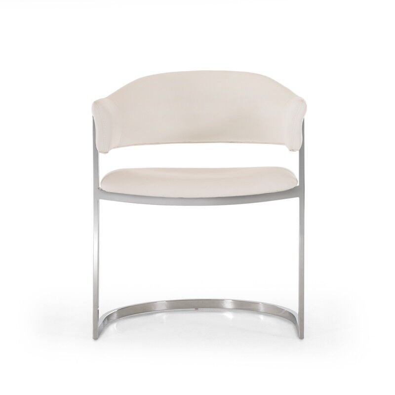 Clower Contemporary Arm Chair Upholstery Color: White