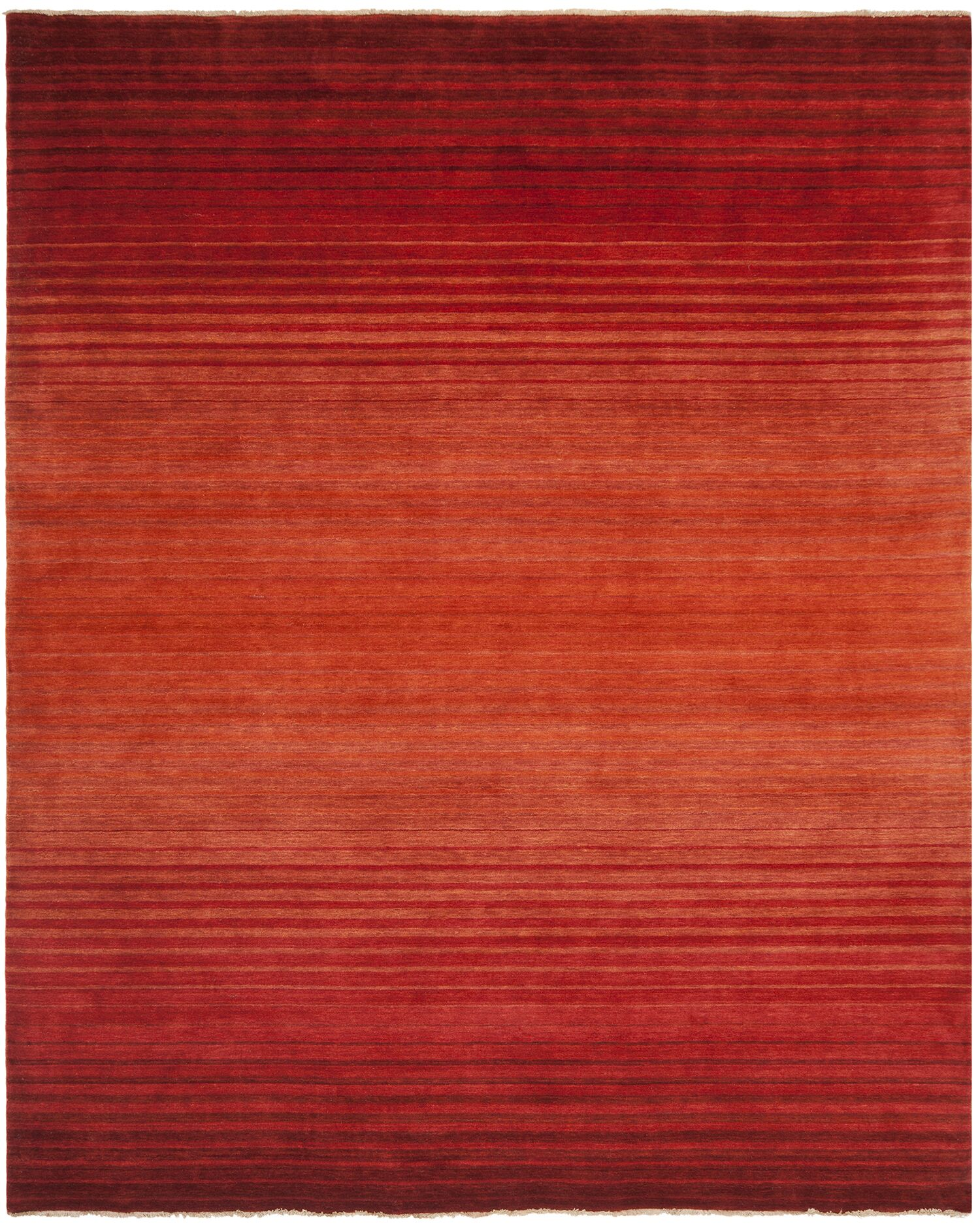 Armstrong Hand-Knotted Rust Area Rug Rug Size: Rectangle 8' x 10'