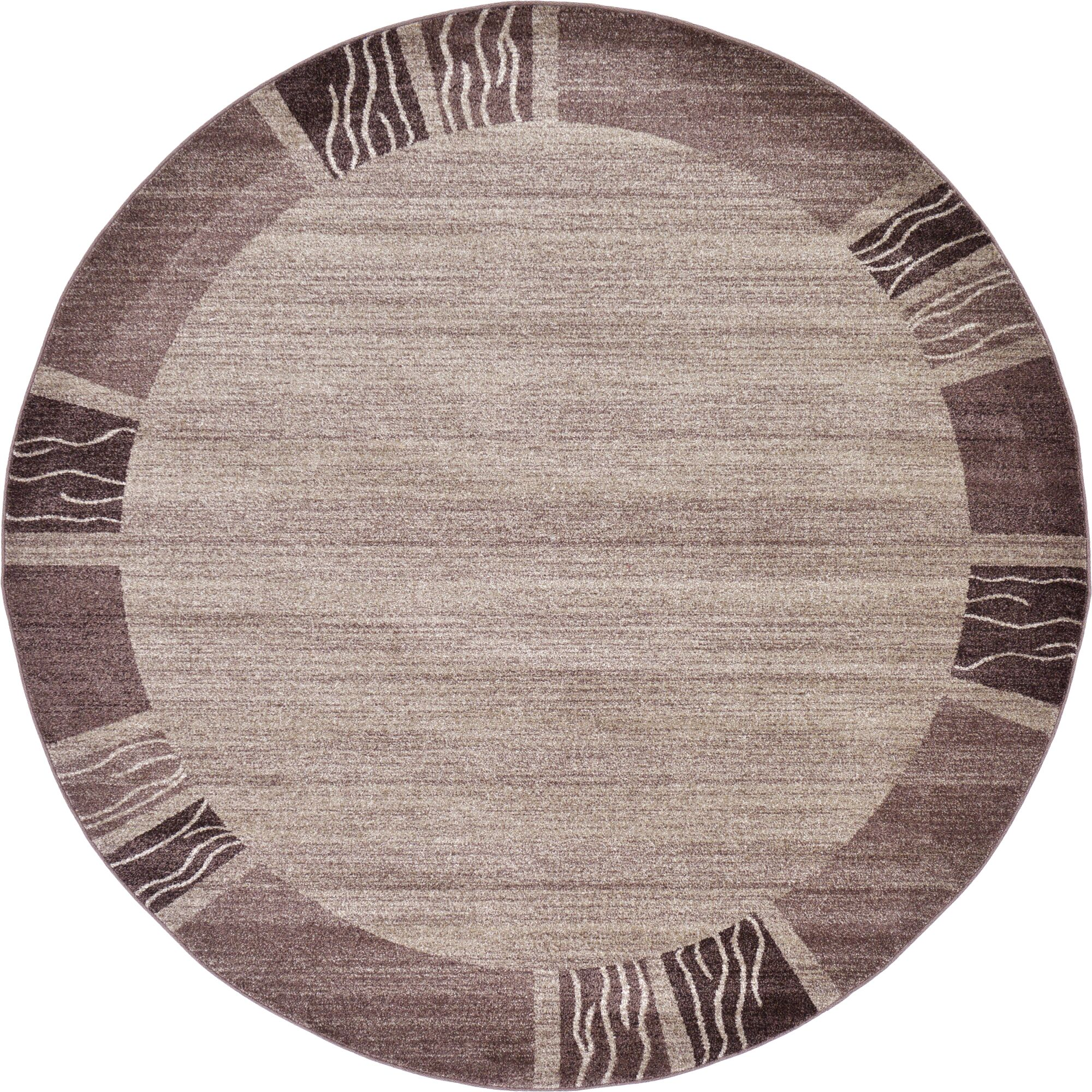Christi Light Brown Area Rug Rug Size: Round 8'