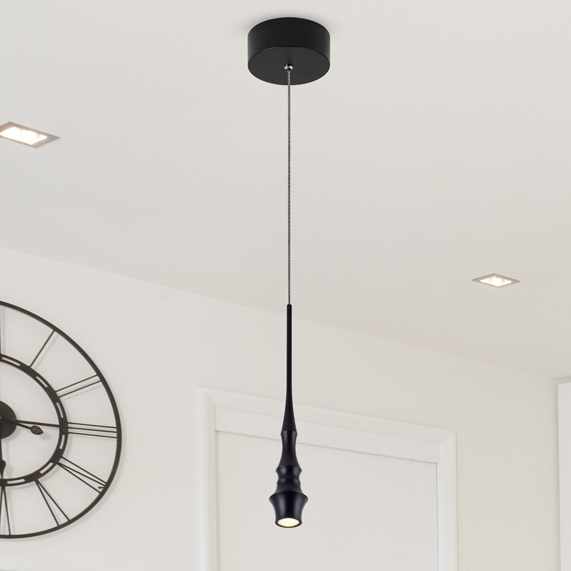 Shrock 1-Light  LED Novelty Pendant Finish: Black